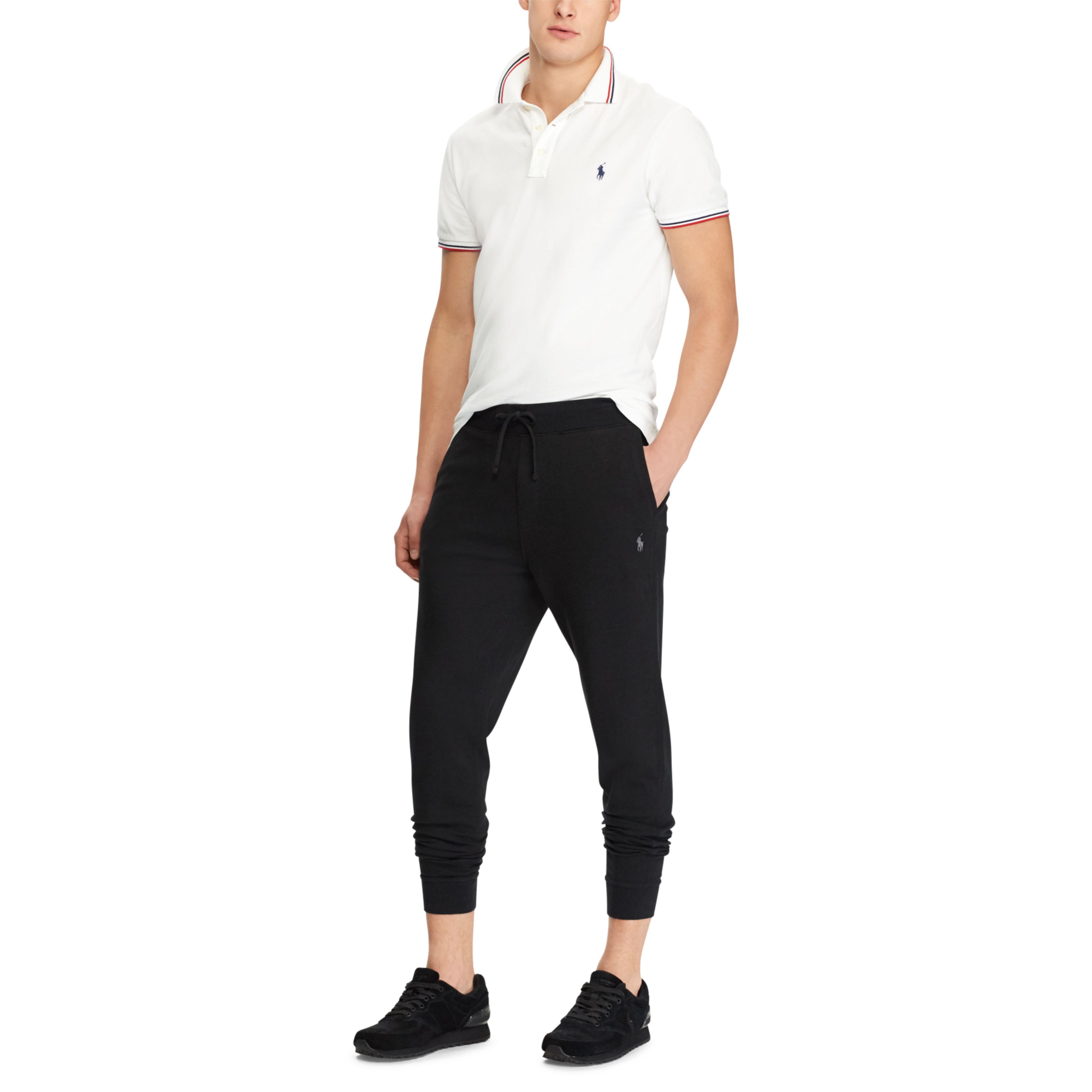 Polo Ralph Lauren Men/'s Black Luxury Jersey Joggers