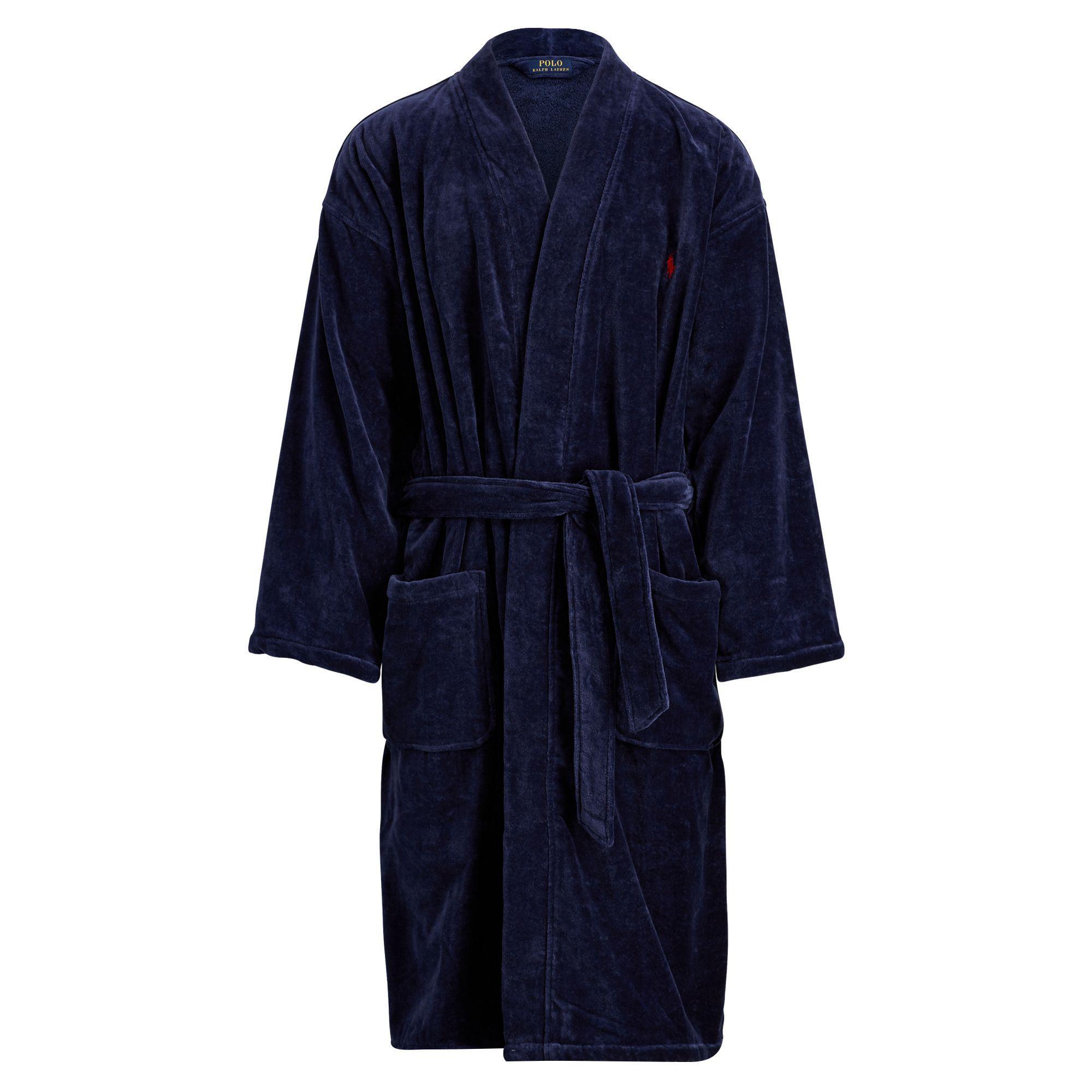 Lyst - Polo Ralph Lauren Terry Kimono Robe in Black for Men 58a01851524