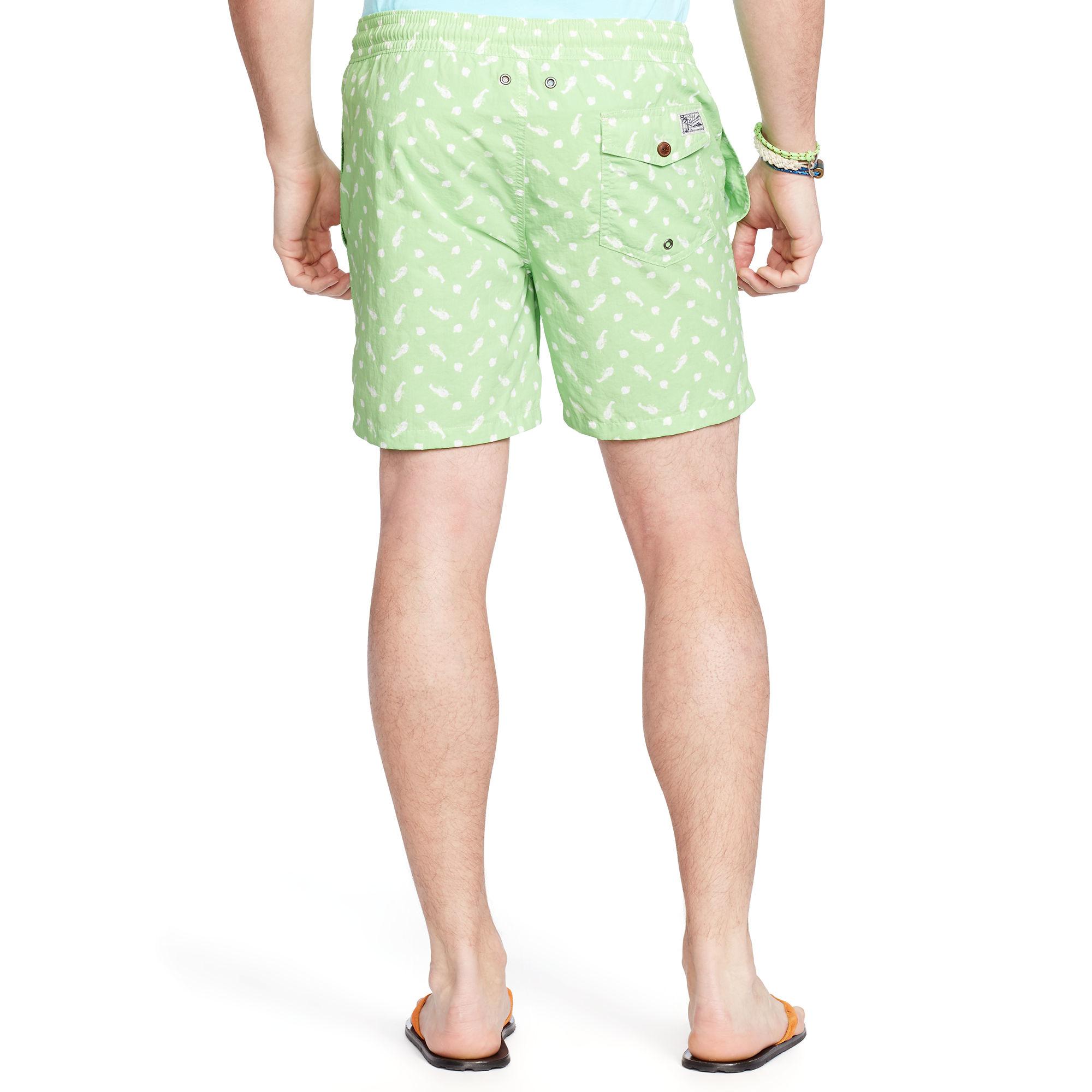 lyst polo ralph lauren badeshorts traveler in green for men. Black Bedroom Furniture Sets. Home Design Ideas