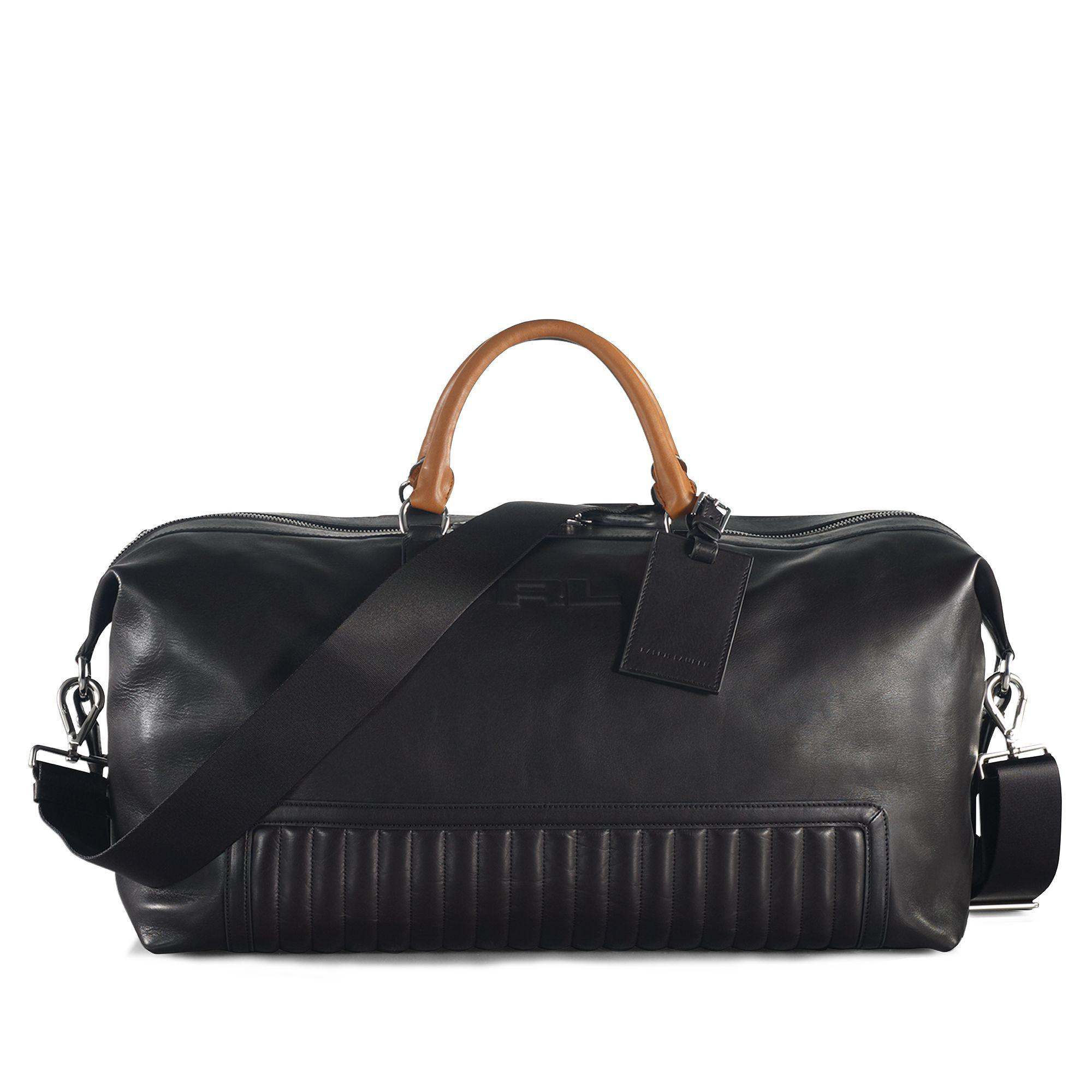 a027b3ac27 Ralph Lauren Quilted Leather Duffel Bag in Black for Men - Lyst