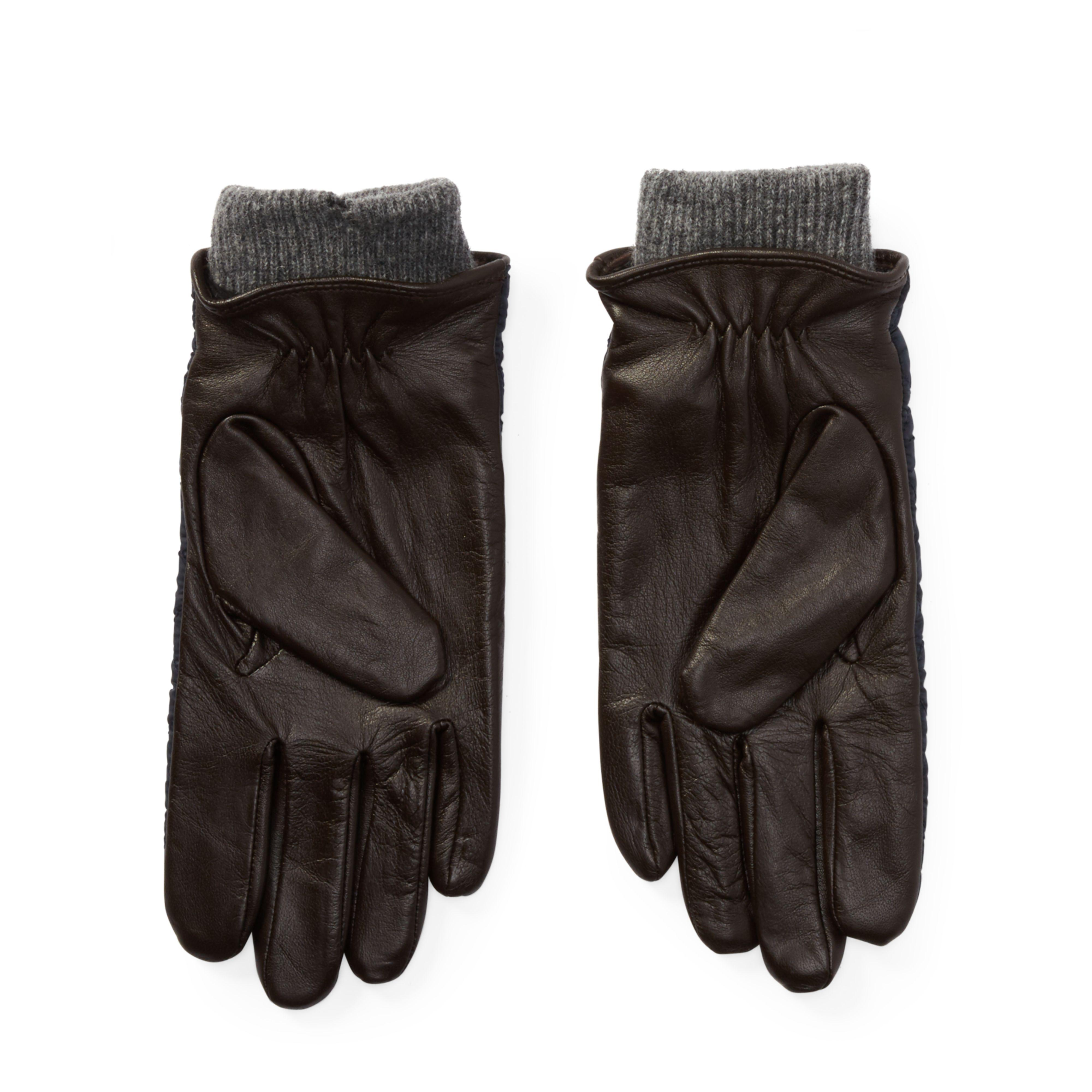 Polo Ralph Lauren Leather Quilted Field Gloves For Men Lyst