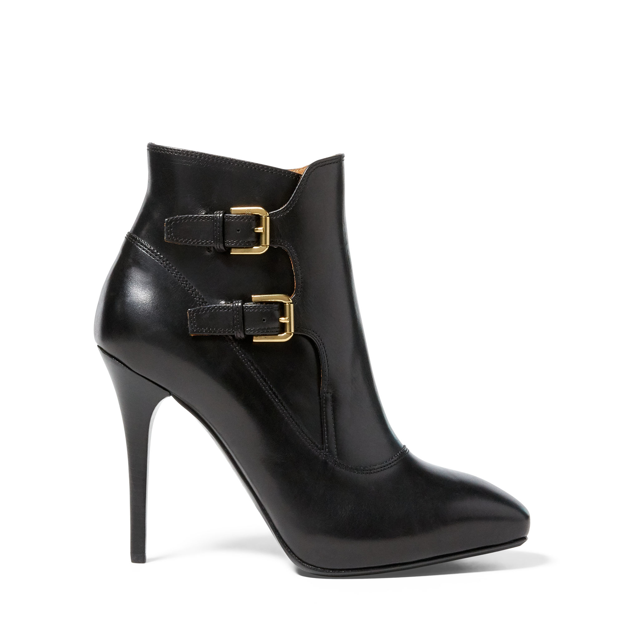 Pink Pony Leather Copper Calfskin Bootie in Black