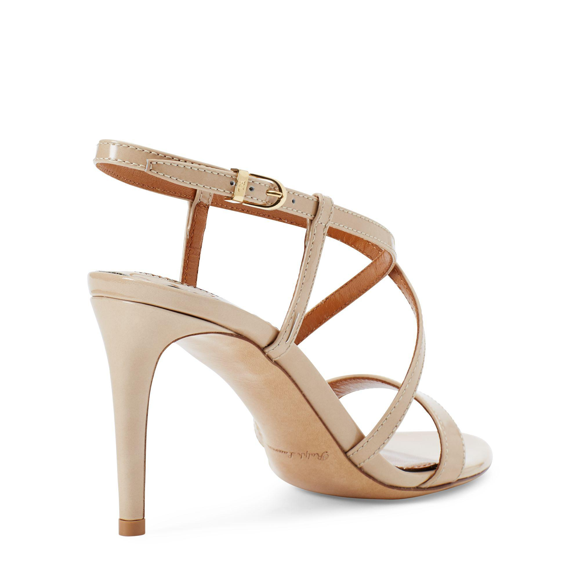 Lauren Ralph Lauren Gwen Patent Leather Dress Sandals