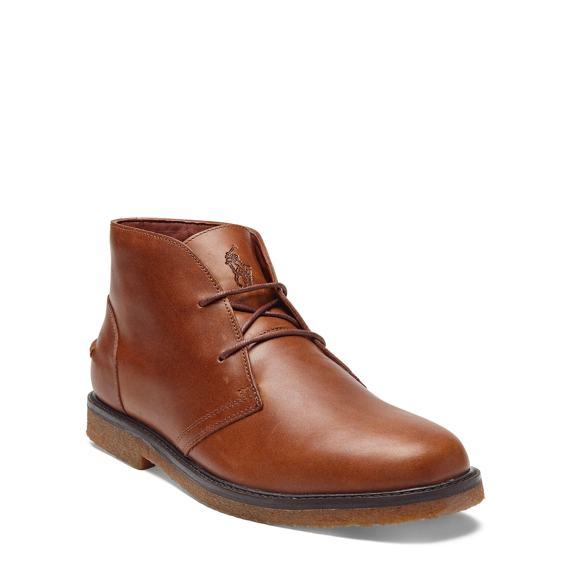 For Brown Men Polo Marlow Lauren Leather Ralph Boot In Lyst 7Ybf6gy