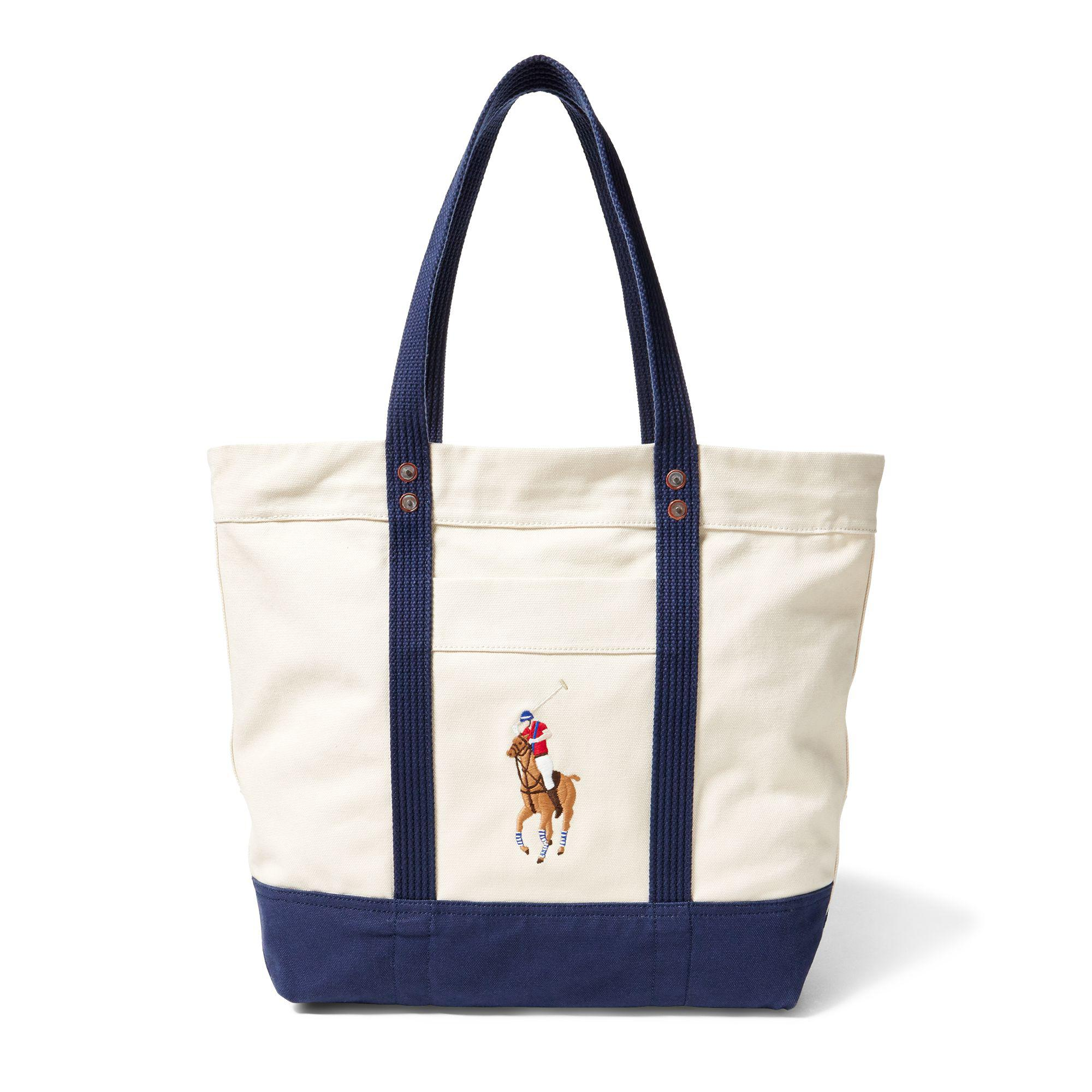 d25d196eb8 Lyst - Polo Ralph Lauren Canvas Big Pony Tote in Blue for Men