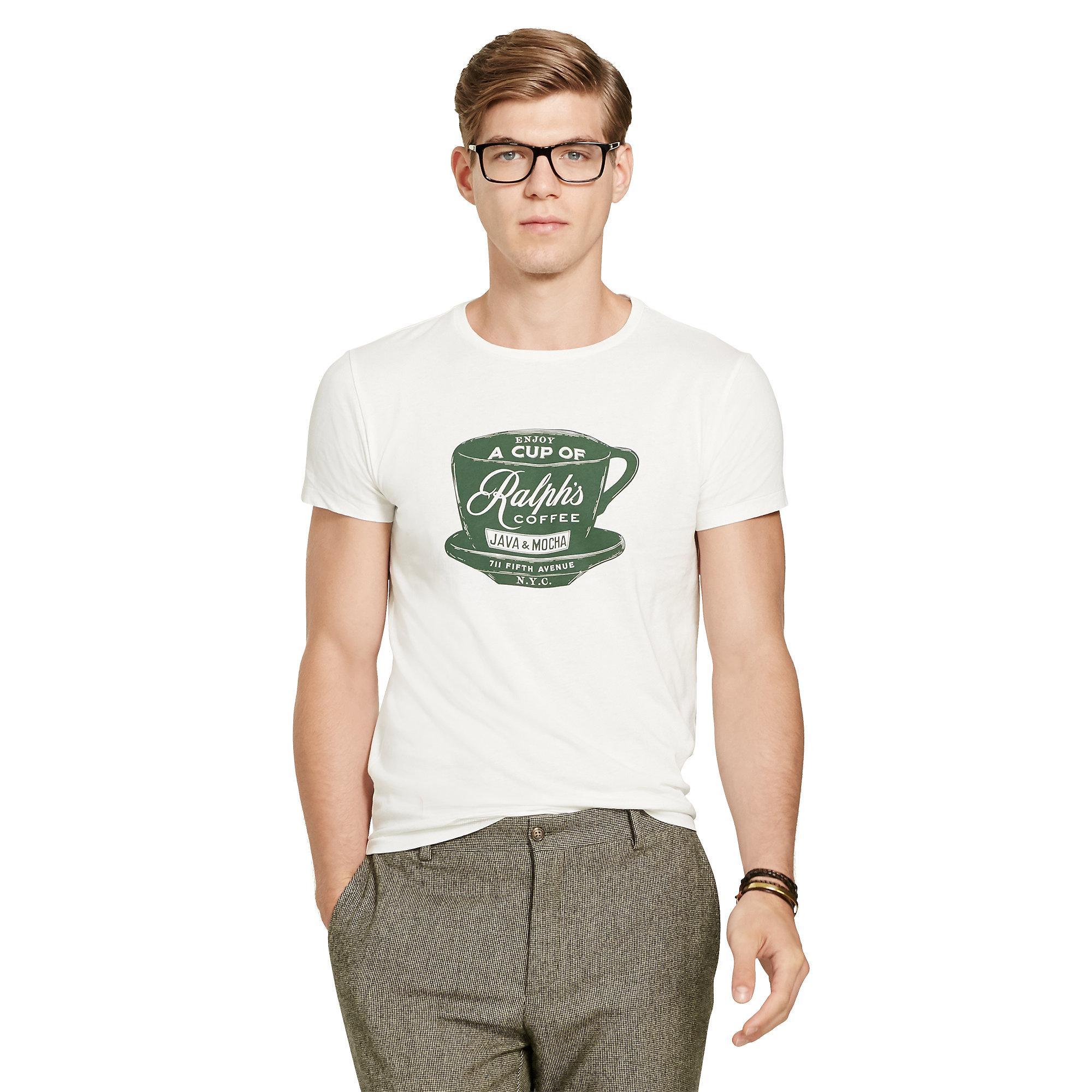 ffc677d1 Polo Ralph Lauren White Ralph's Coffee T-shirt for men
