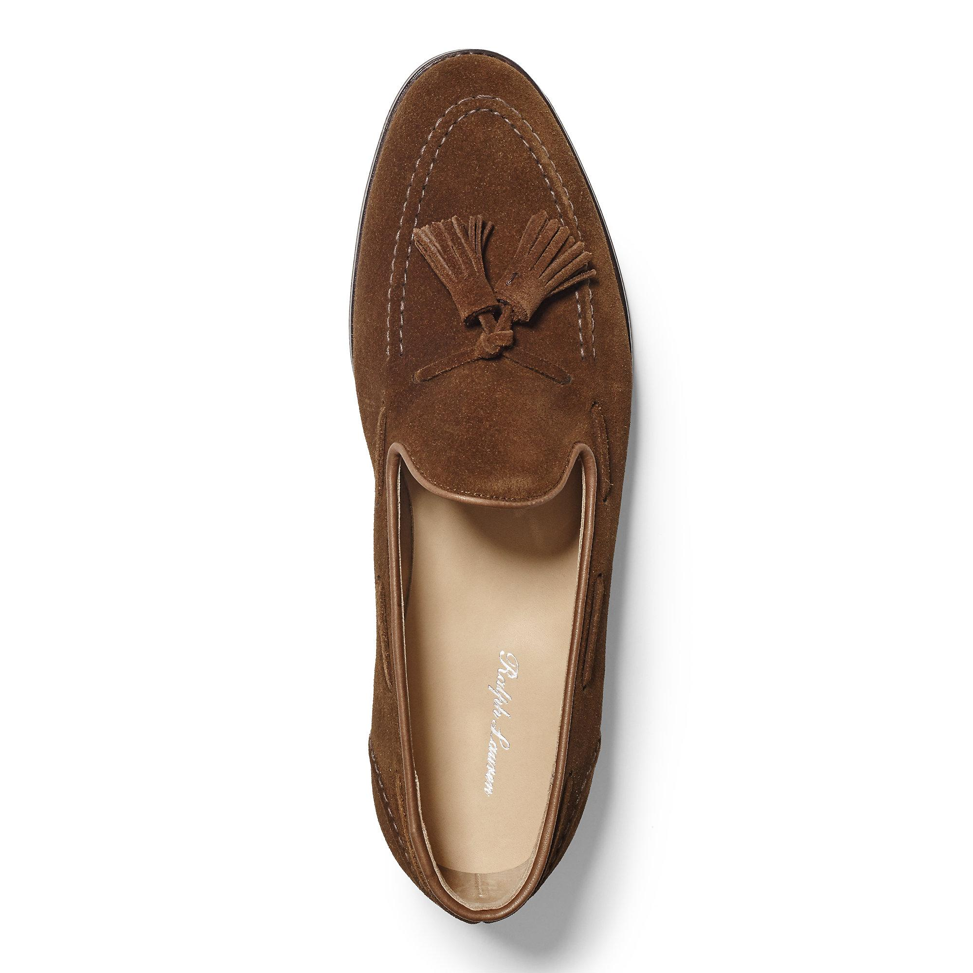 934314378 Ralph Lauren Marlow Suede Tassel Loafer in Brown for Men - Lyst