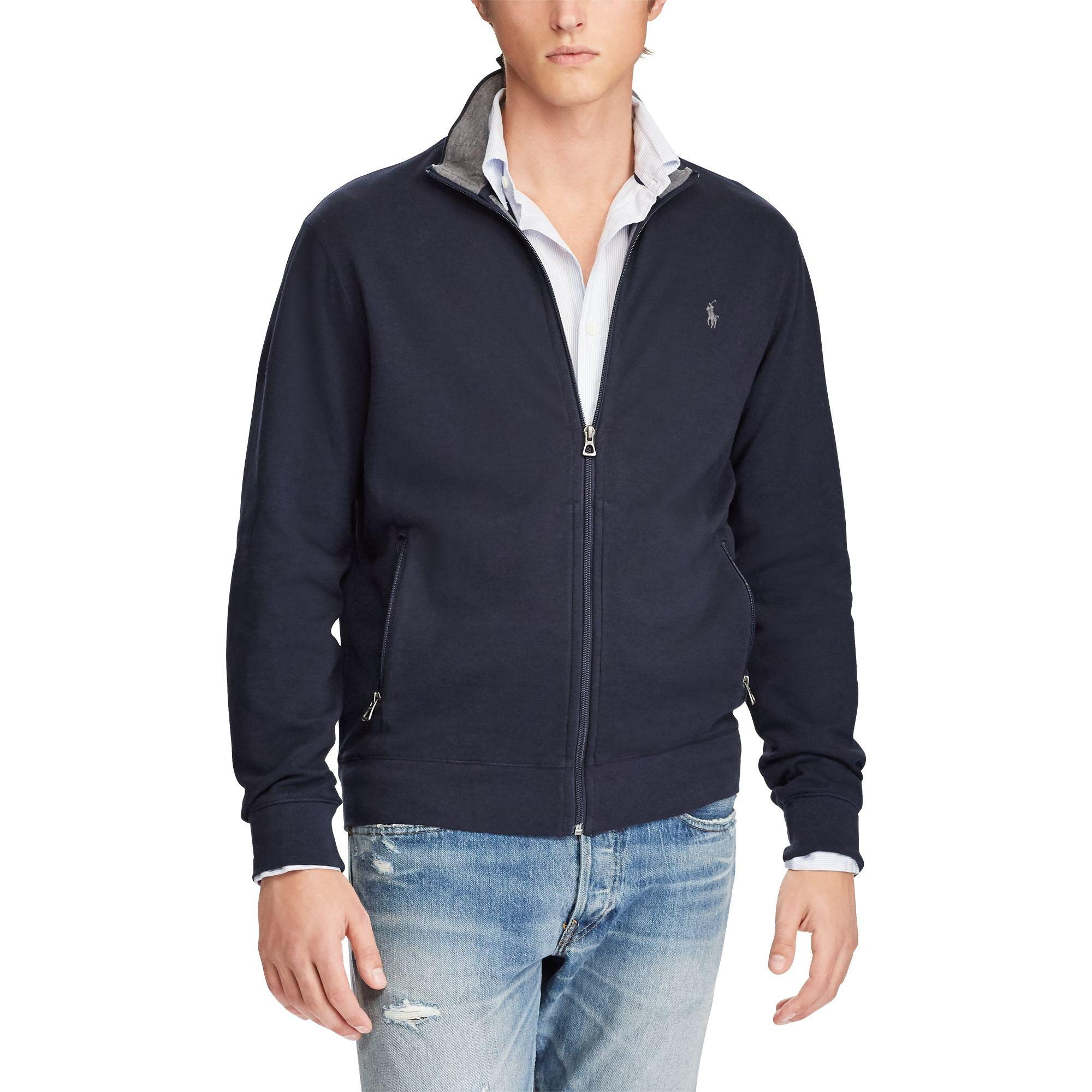save off 7e29e c018f Polo Ralph Lauren Luxuriöse Trainingsjacke aus Jersey in Blue für Herren