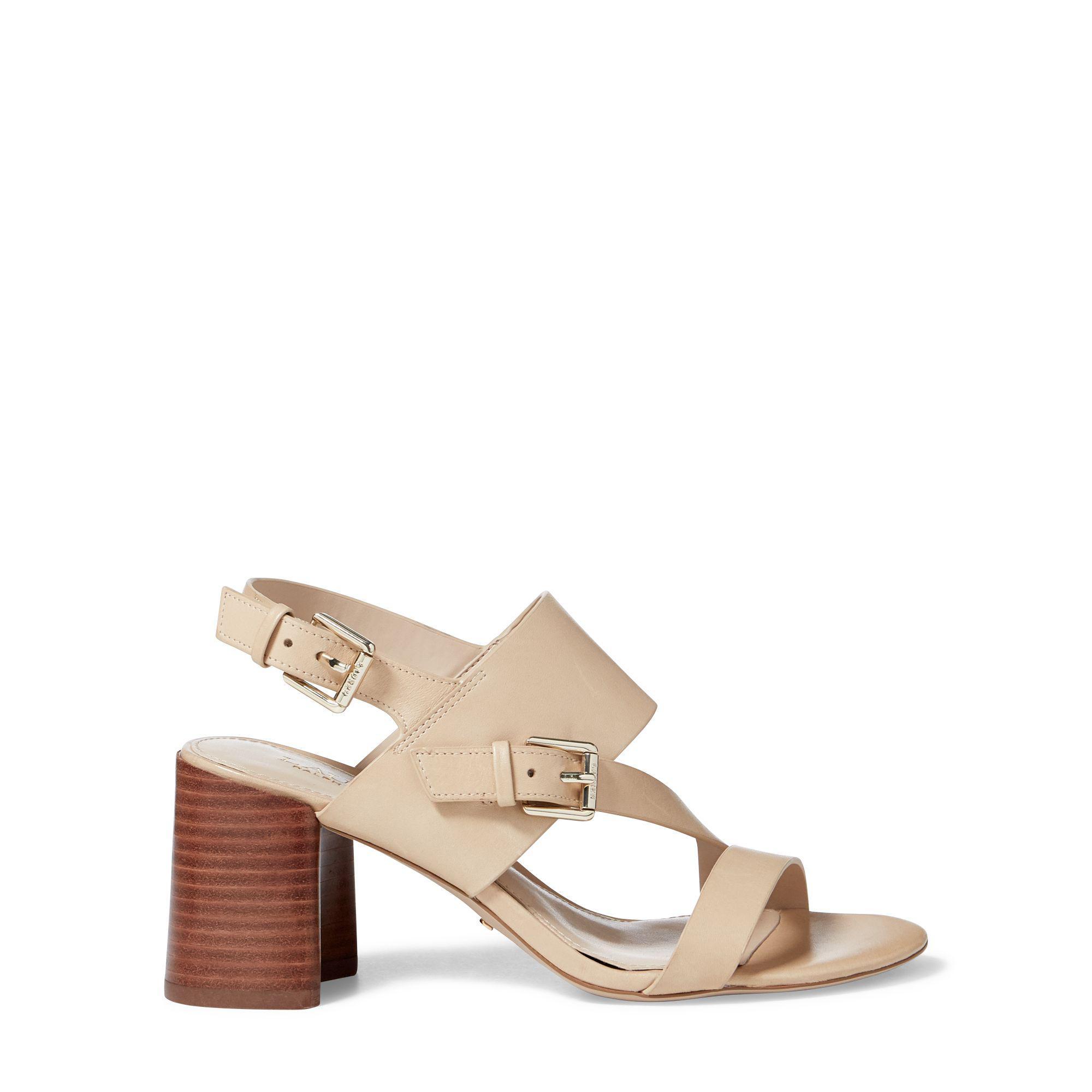 6b2bc7c8478 Ralph Lauren Multicolor Florin Vachetta Leather Sandal