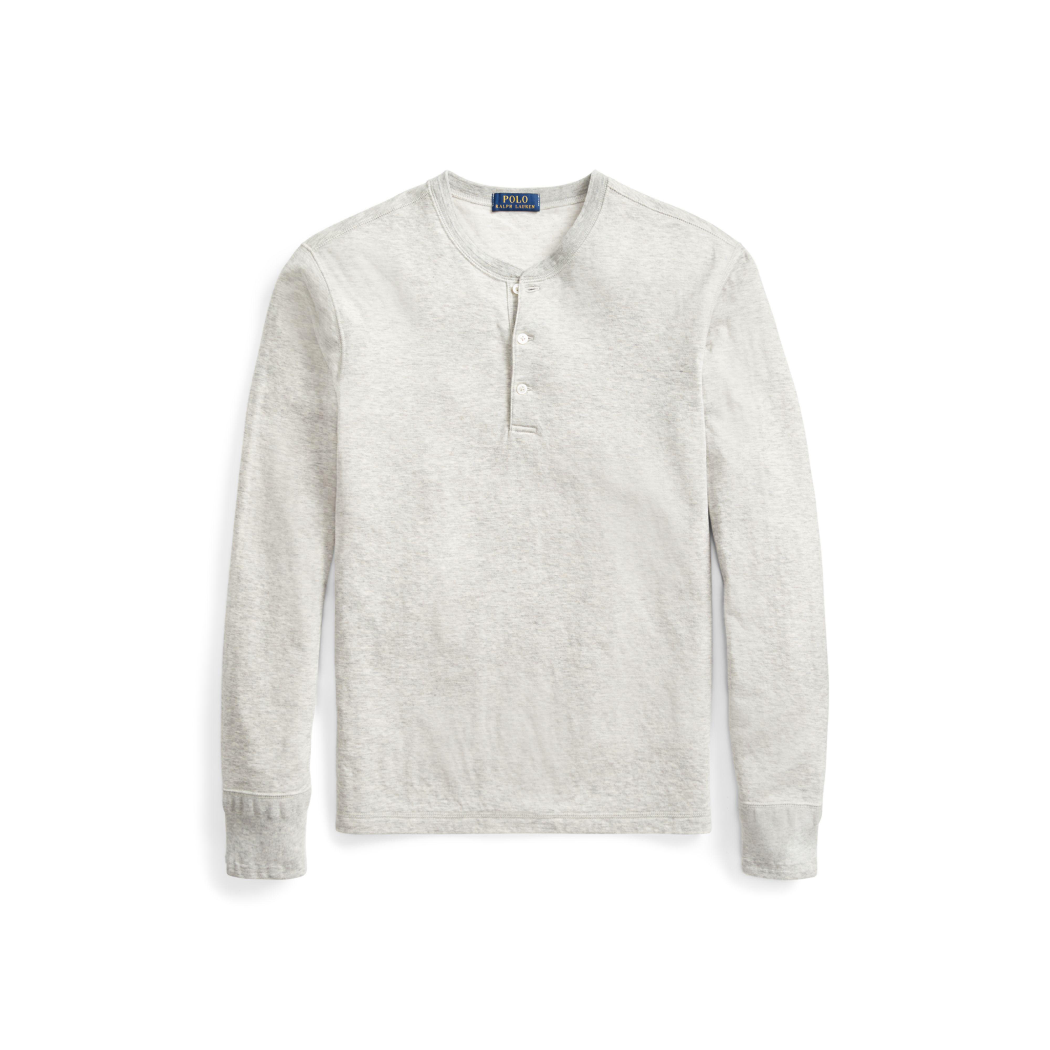 dd245882c0 ... new zealand lyst polo ralph lauren cotton blend henley shirt in gray  for men 37d26 d2519