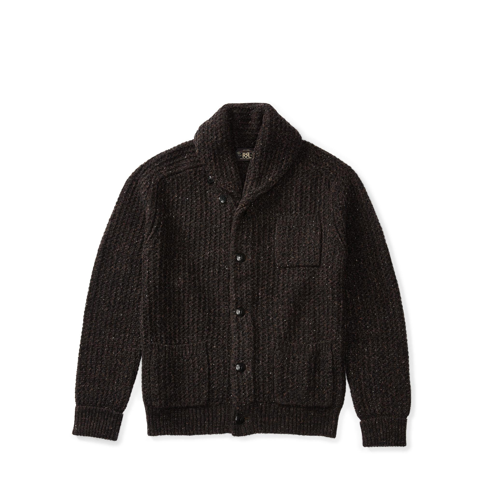 Lyst Rrl Indigo Cotton Blend Cardigan In Black For Men