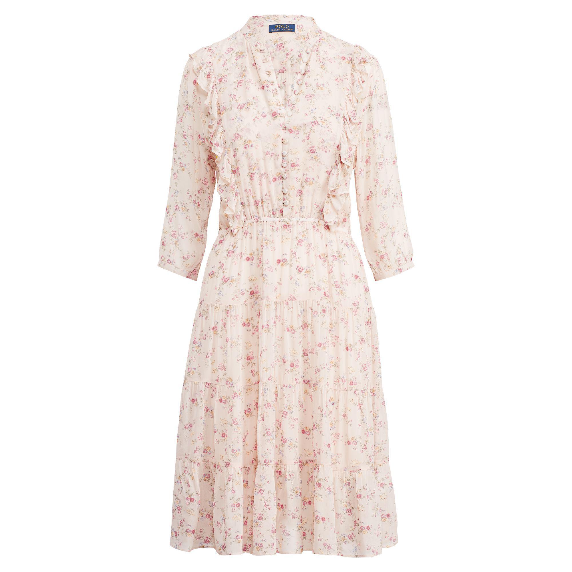 30d96c1b631 Polo Ralph Lauren - Multicolor Floral Gauze Dress - Lyst. View fullscreen