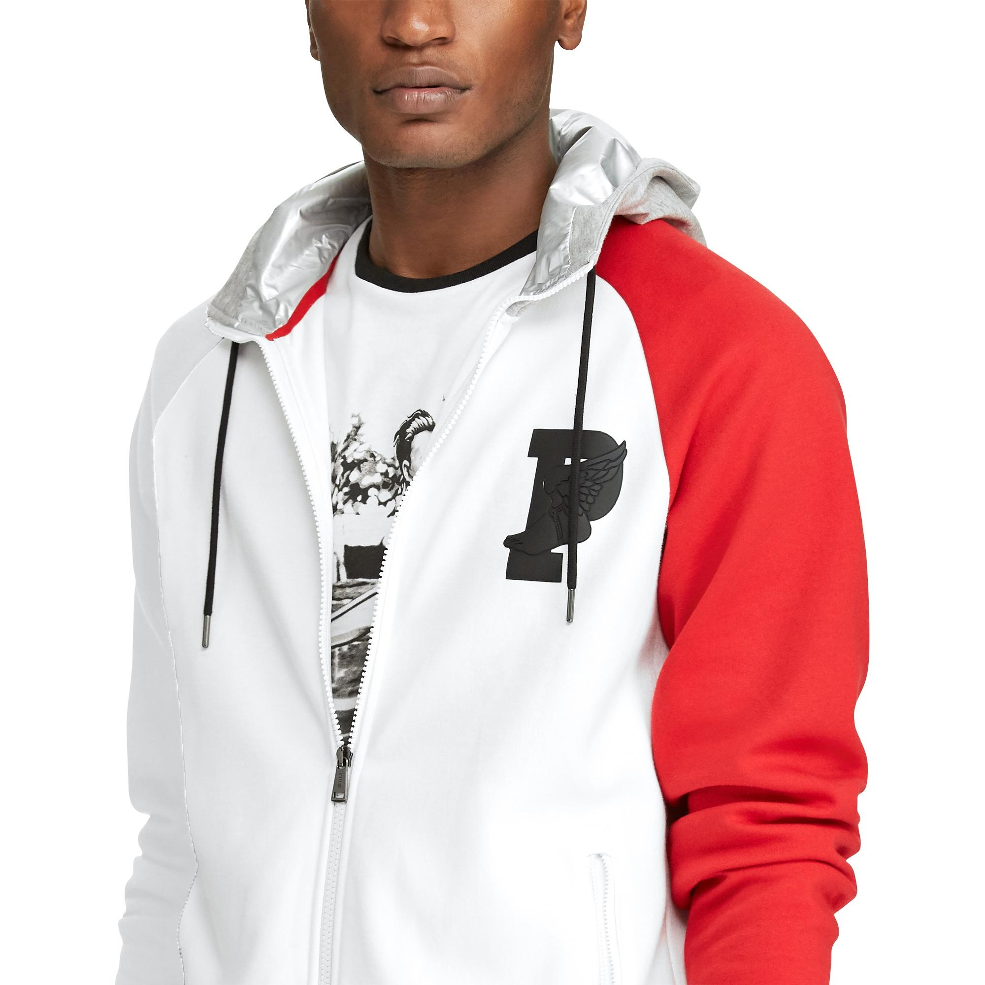 Polo Ralph Lauren Mens Tech Fleece Full Zip Track Jacket Black XX-Large
