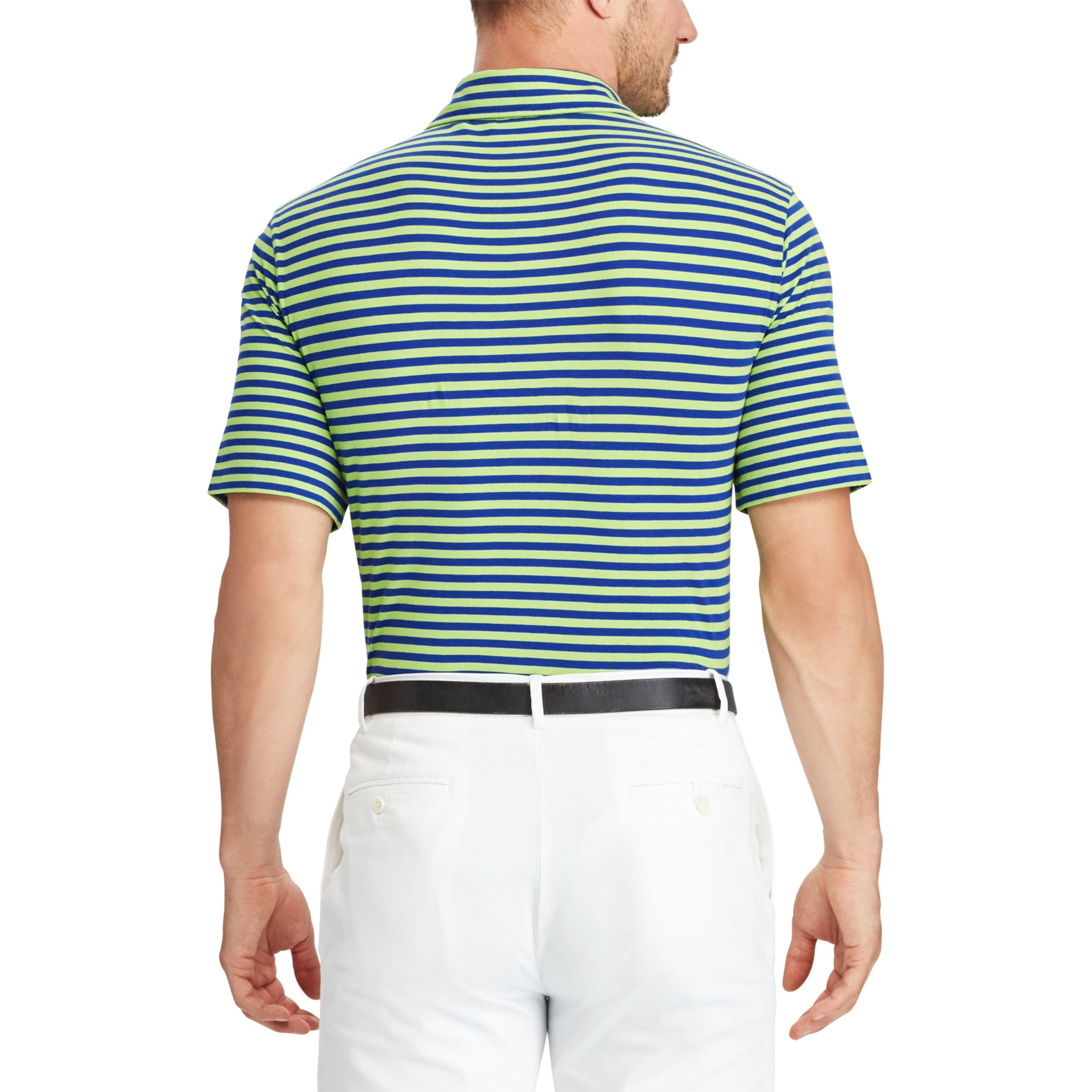 e5ef58813a Lyst - Ralph Lauren Custom Fit Stretch Lisle Polo in Blue for Men