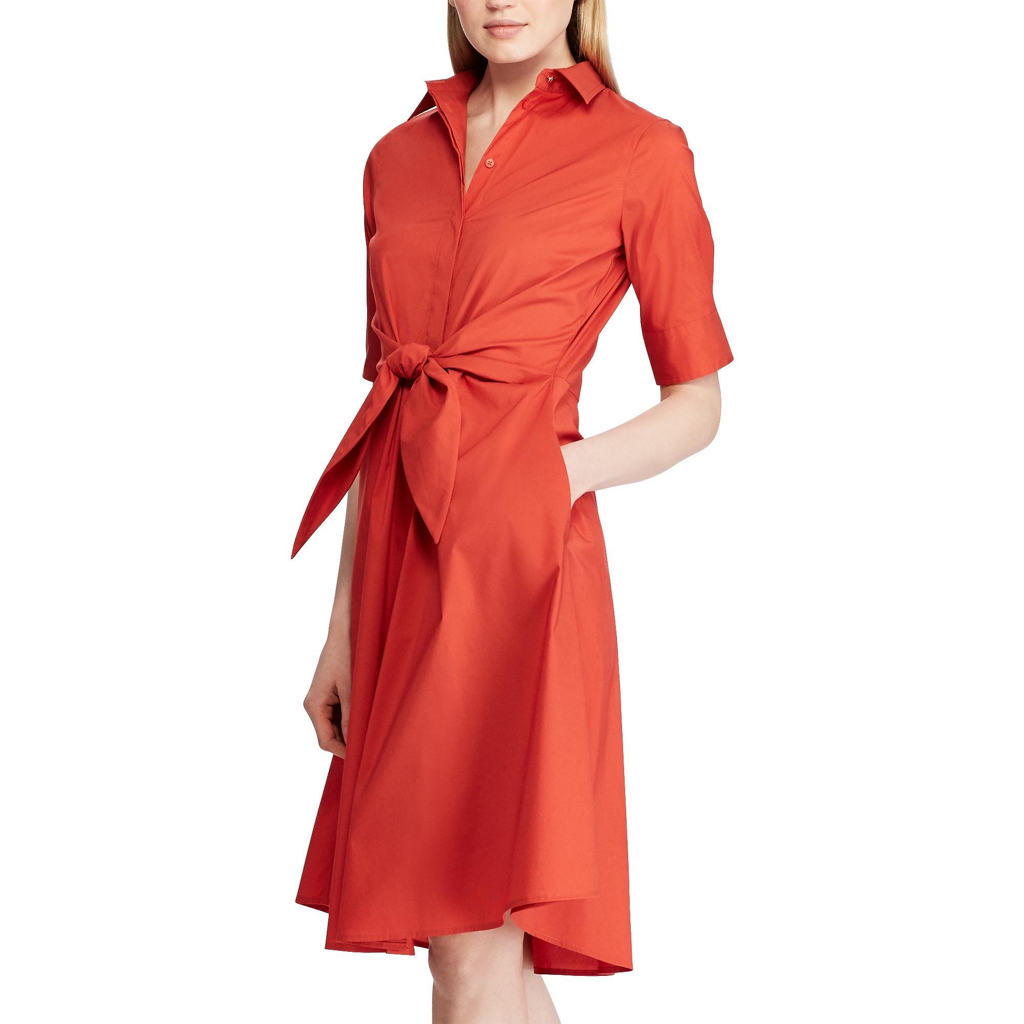 Lauren Tie - Front Shirt Dress