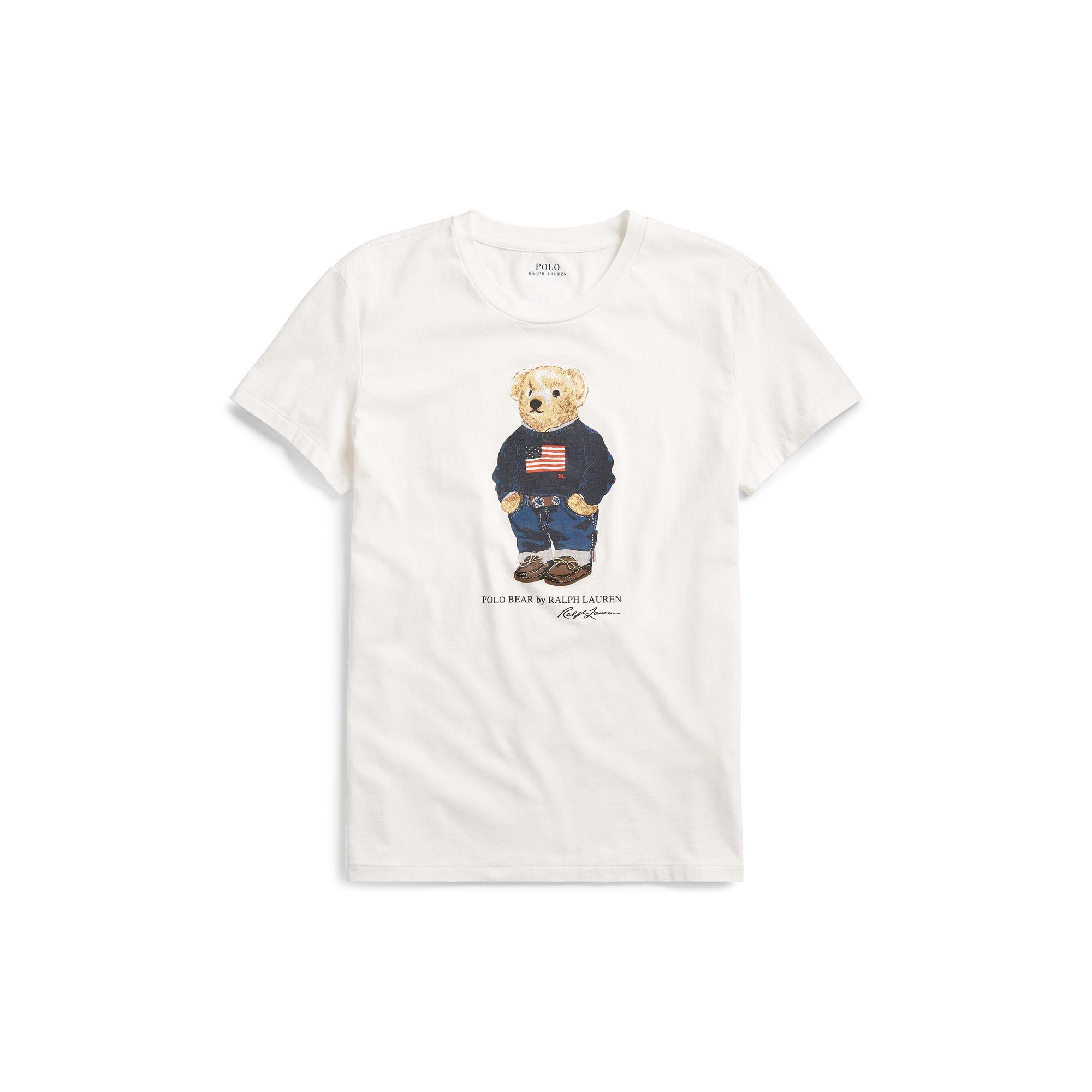 ab5c0197 Polo Ralph Lauren Multicolor Flag Bear Cotton T-shirt