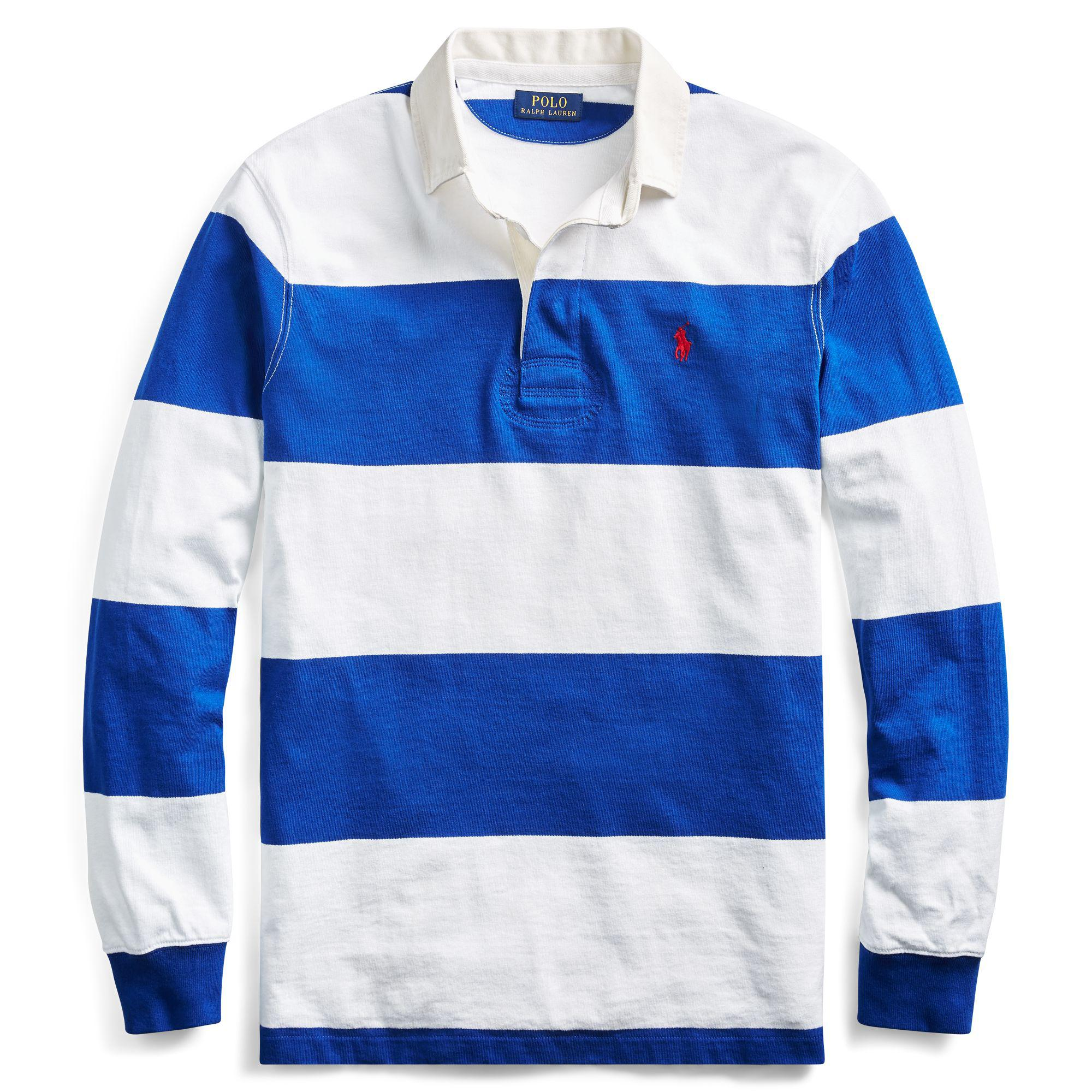 3daa748a0 Polo Ralph Lauren - Blue The Iconic Rugby Shirt for Men - Lyst. View  fullscreen