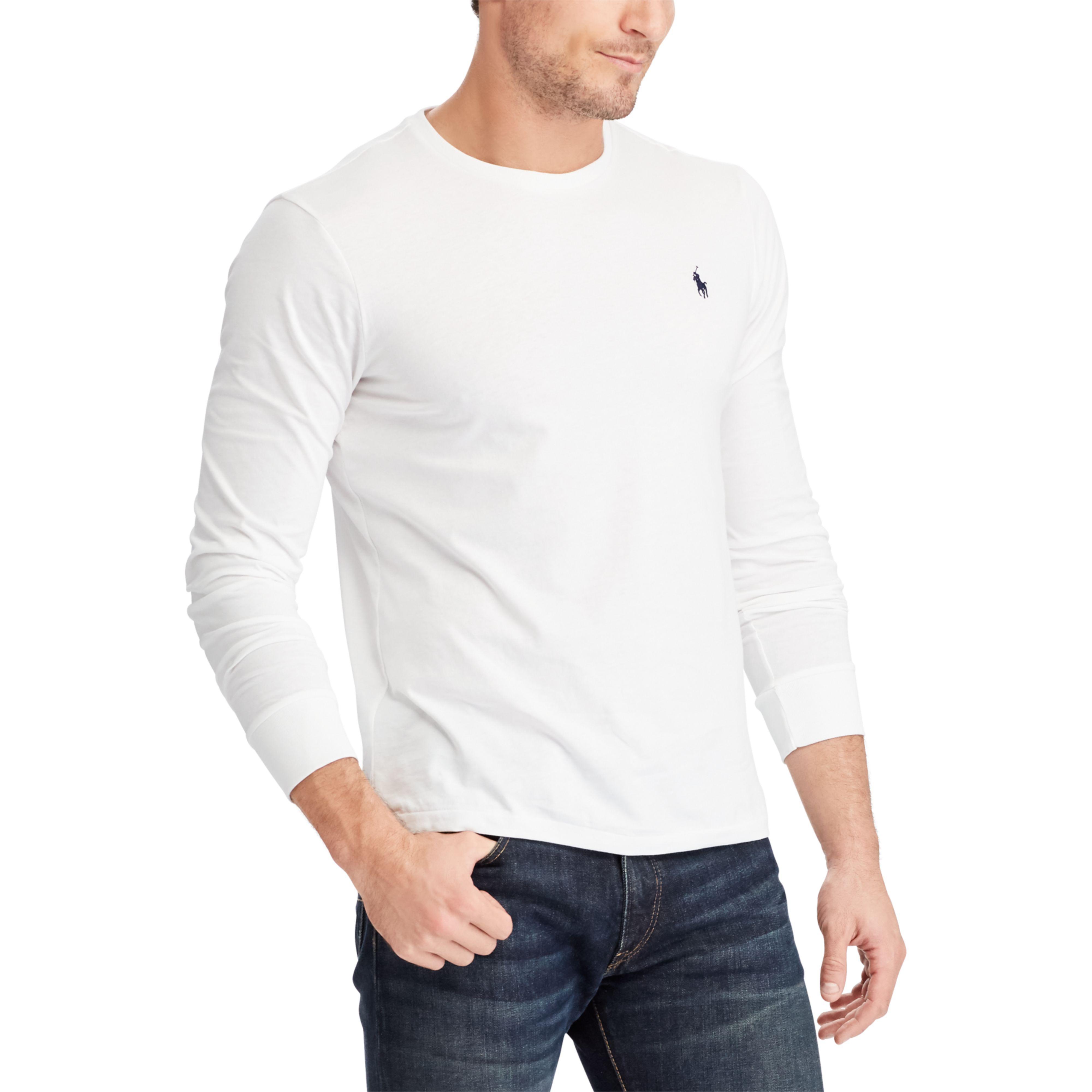 32e522931 Lyst - Polo Ralph Lauren Custom Slim Fit Cotton T-shirt in White for Men