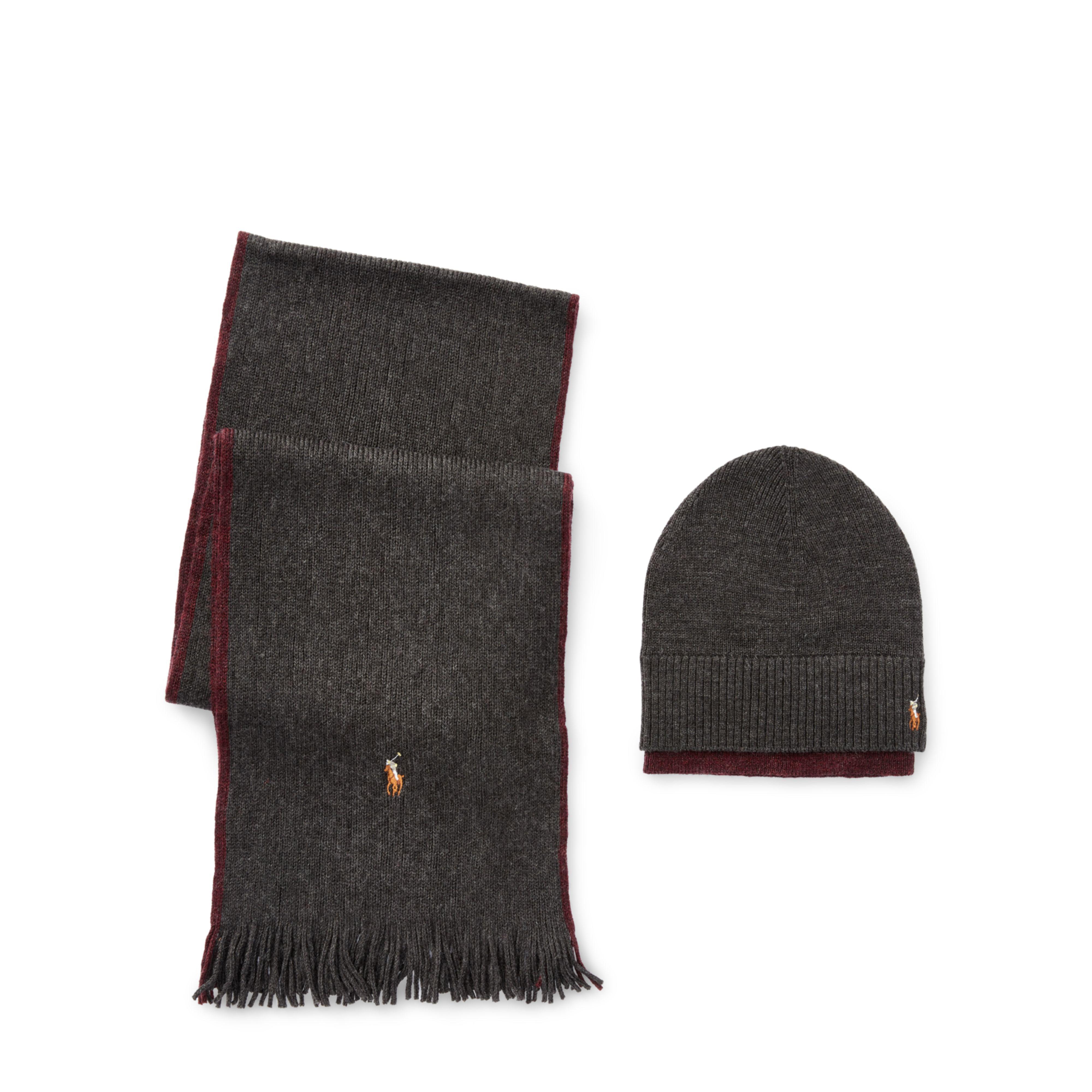 ... wholesale lyst polo ralph lauren merino hat scarf gift set in black for  men 20214 28afa b7364e60fcbb