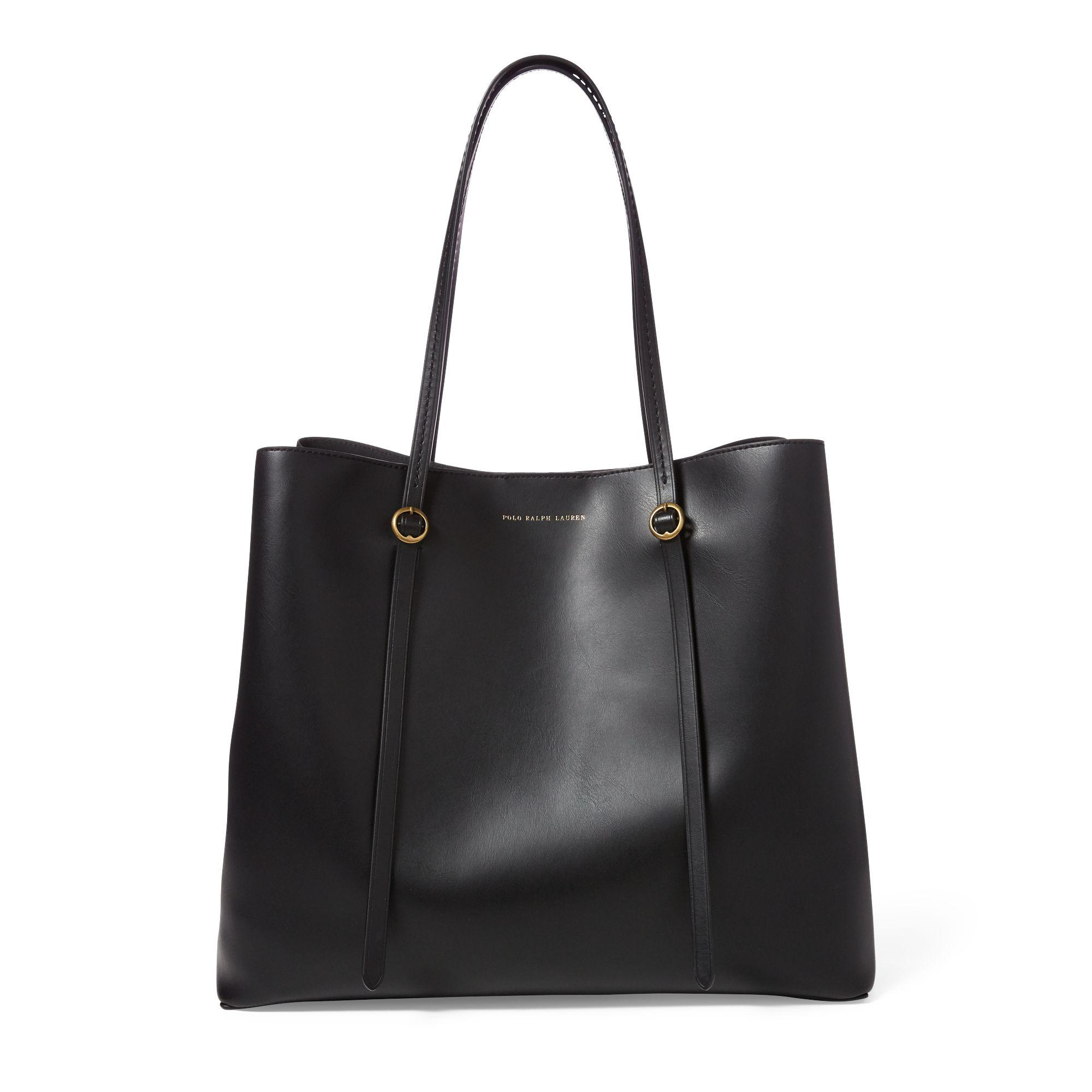d1c9928180a Polo Ralph Lauren - Black Leather Lennox Tote - Lyst. View fullscreen