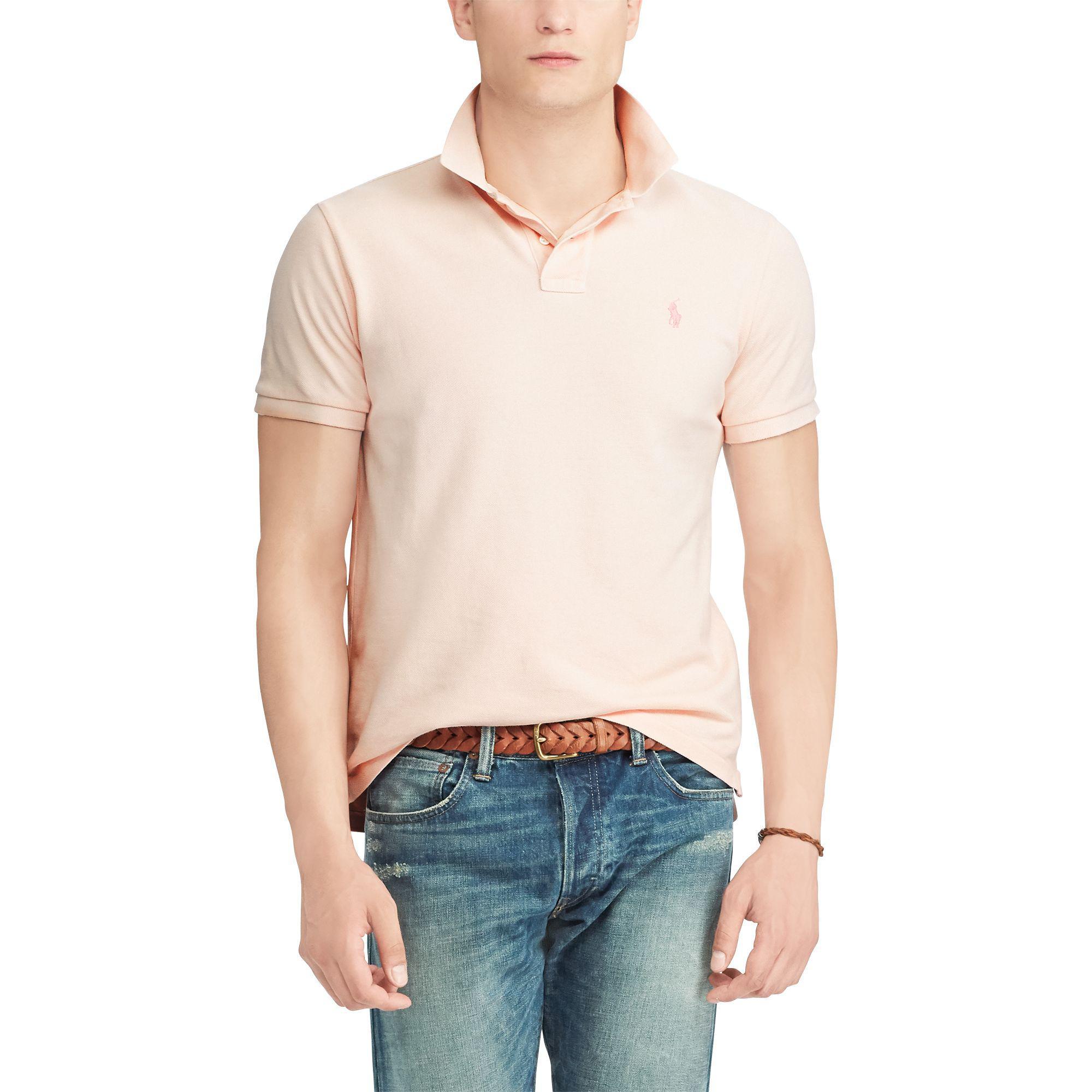c17d784ef2 Lyst - Polo Ralph Lauren Pink Pony Custom Slim Polo in Pink for Men