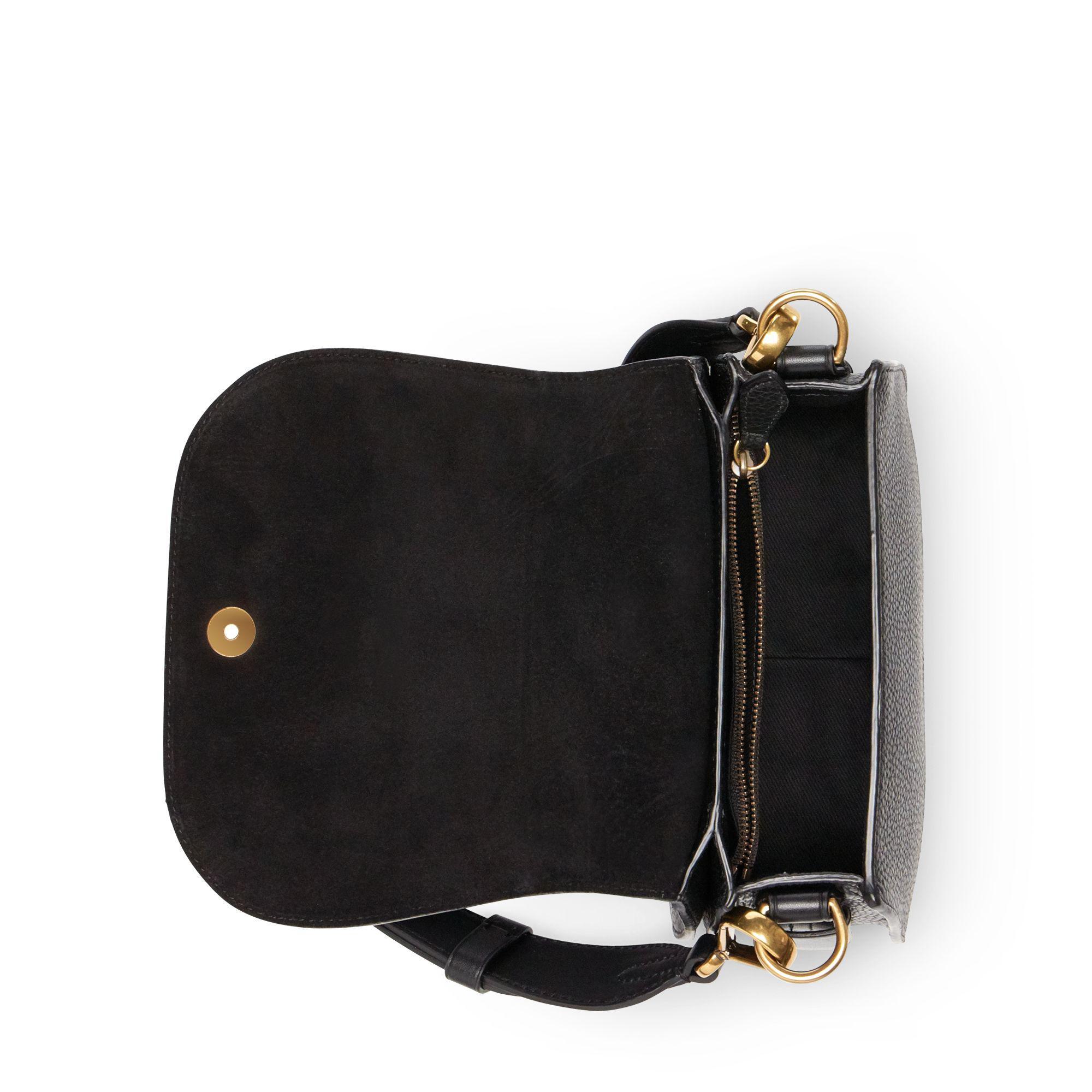 Polo Ralph Lauren - Black Pebbled Leather Lennox Bag - Lyst. View fullscreen c5005540e7