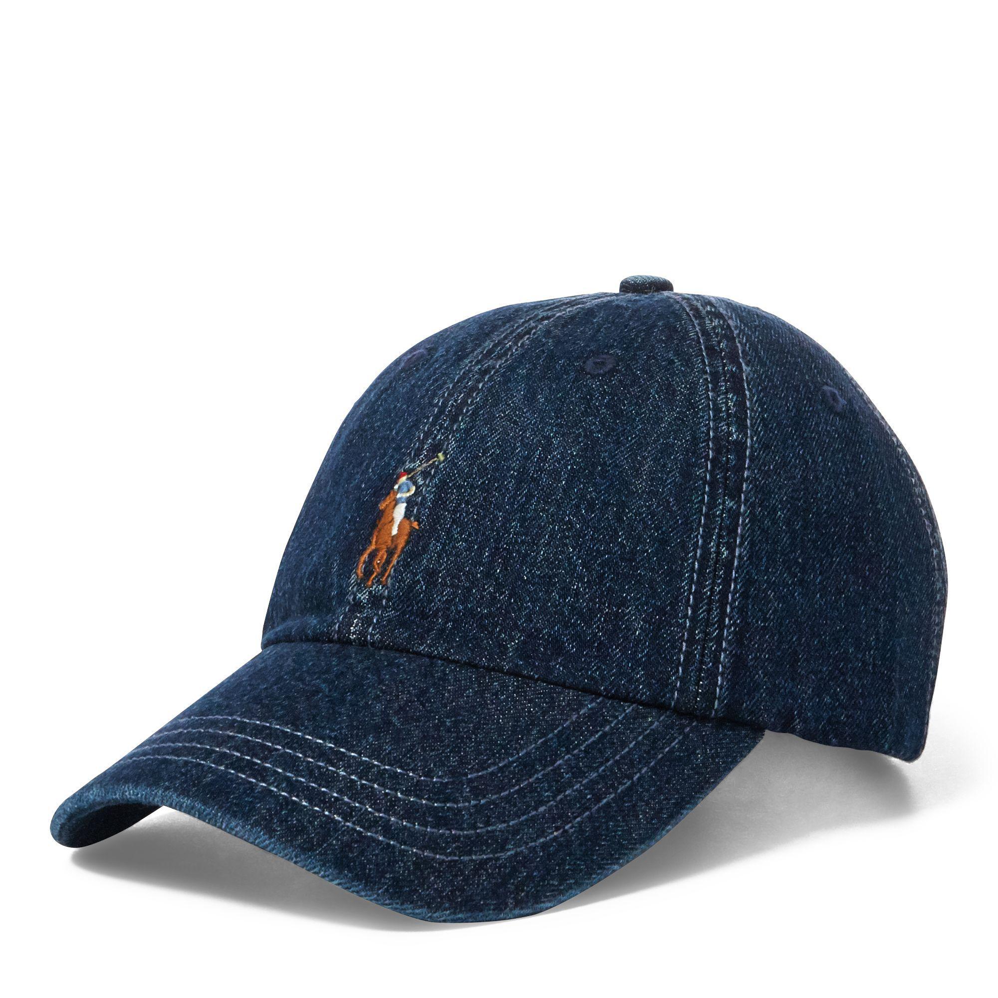 7330a3b32d86d Polo Ralph Lauren Denim Baseball Cap in Blue for Men - Save 22% - Lyst
