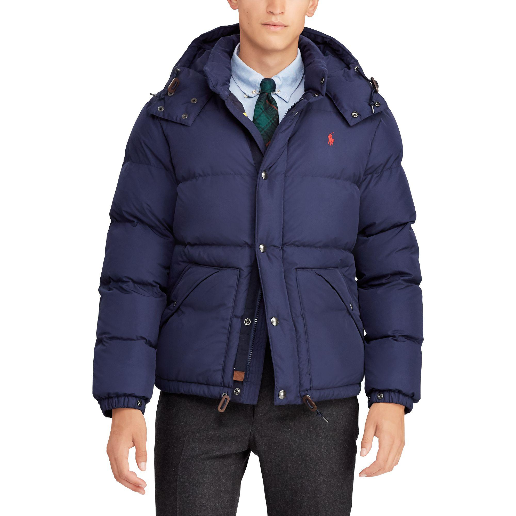 Polo Ralph Lauren Water-repellent Down Jacket in Blue for Men - Lyst 360a32facf75