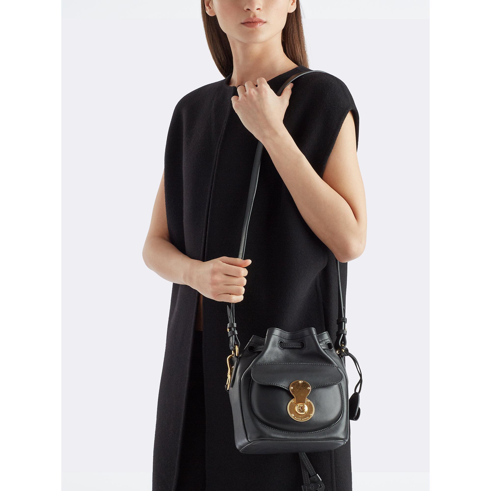 Lyst Ralph Lauren Small Ricky Drawstring Bag In Black