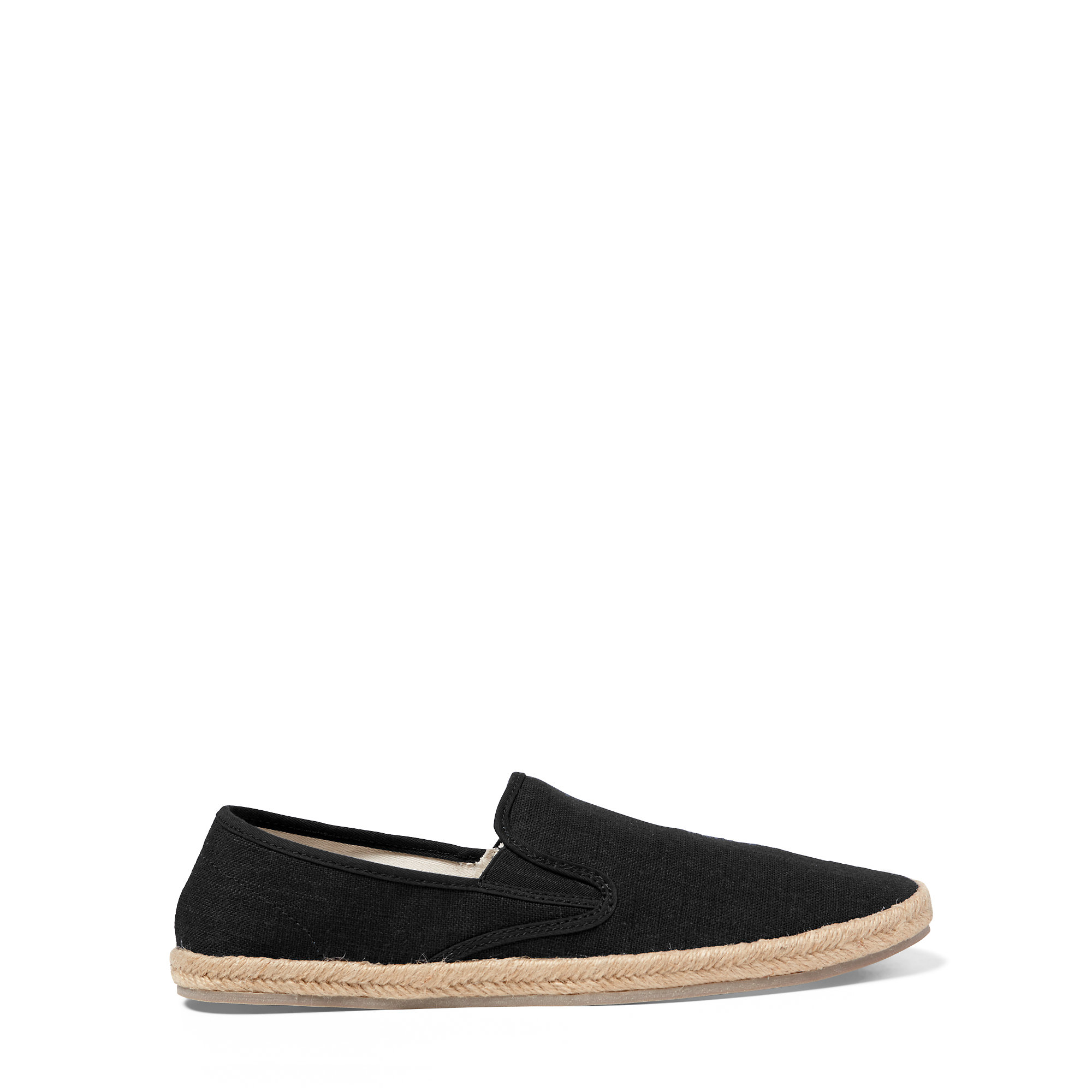 polo ralph lauren swittle linen blend espadrille in black for men lyst. Black Bedroom Furniture Sets. Home Design Ideas