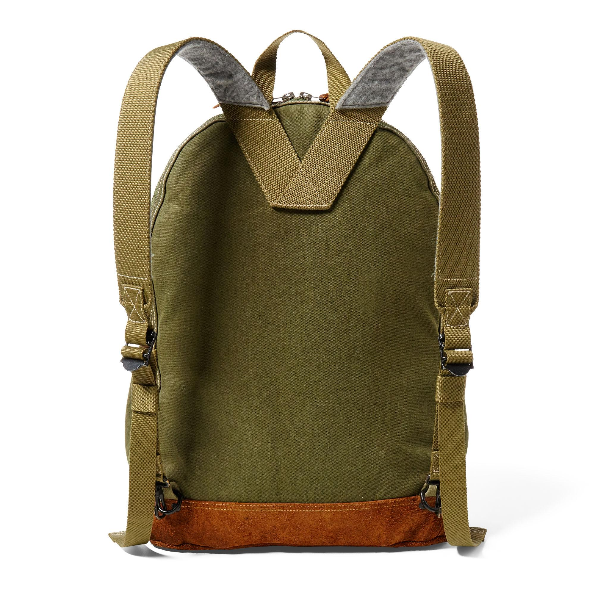 RRL Canvas-suede Bowers Backpack in Green for Men