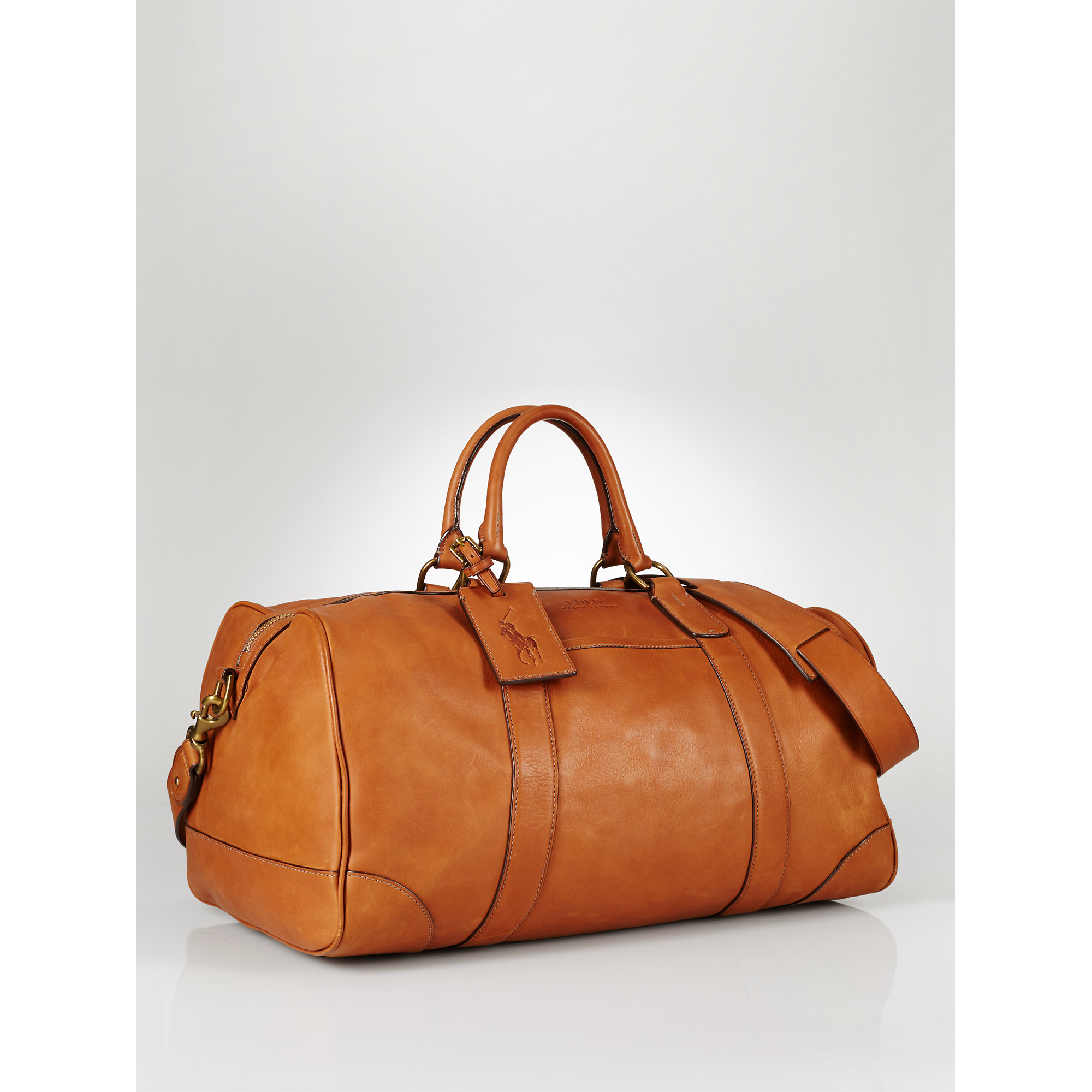 4dc50326a9 Lyst - Polo Ralph Lauren Leather Duffel Bag in Brown for Men