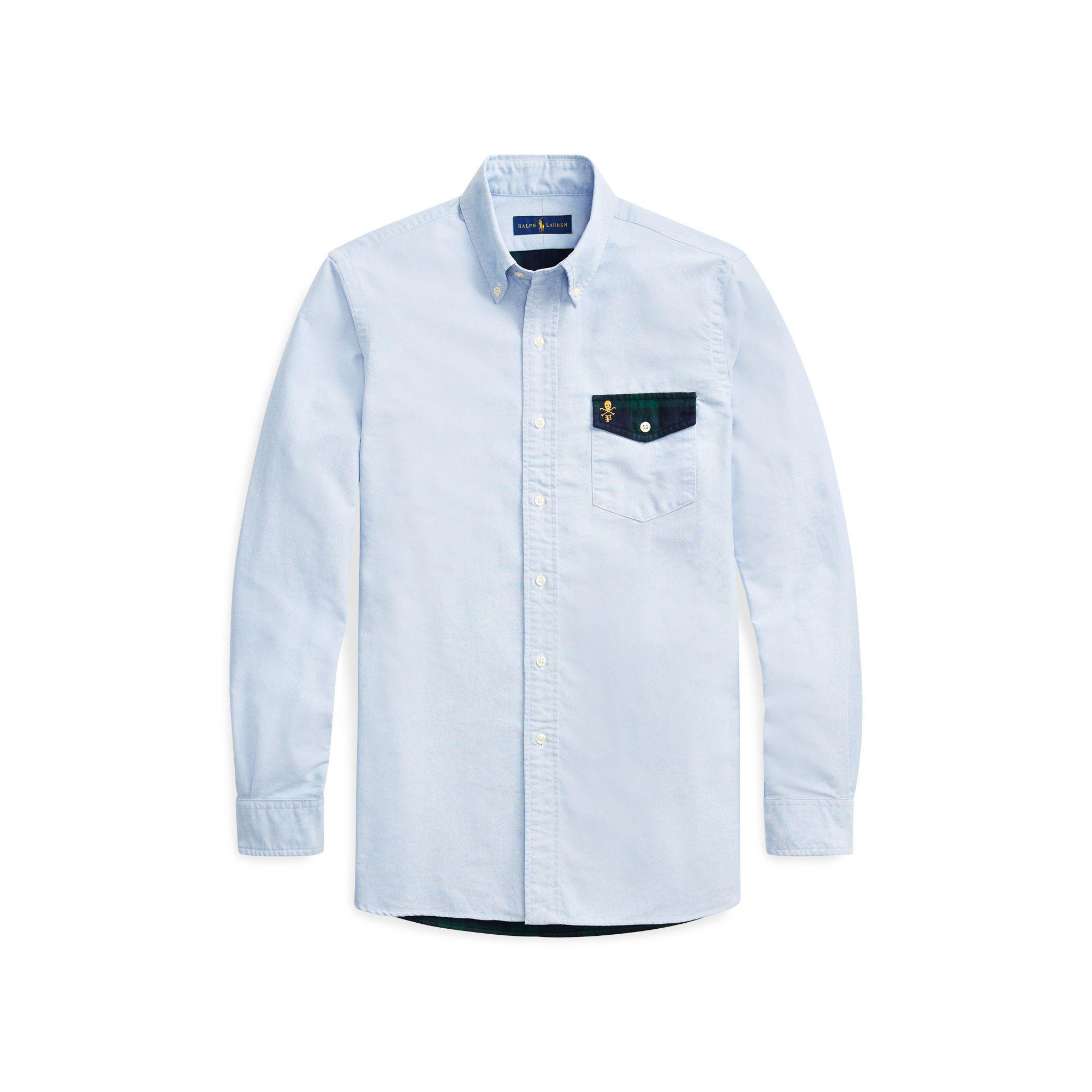 7e1cc79d4 Lyst - Polo Ralph Lauren Classic Fit Oxford Shirt in Blue for Men