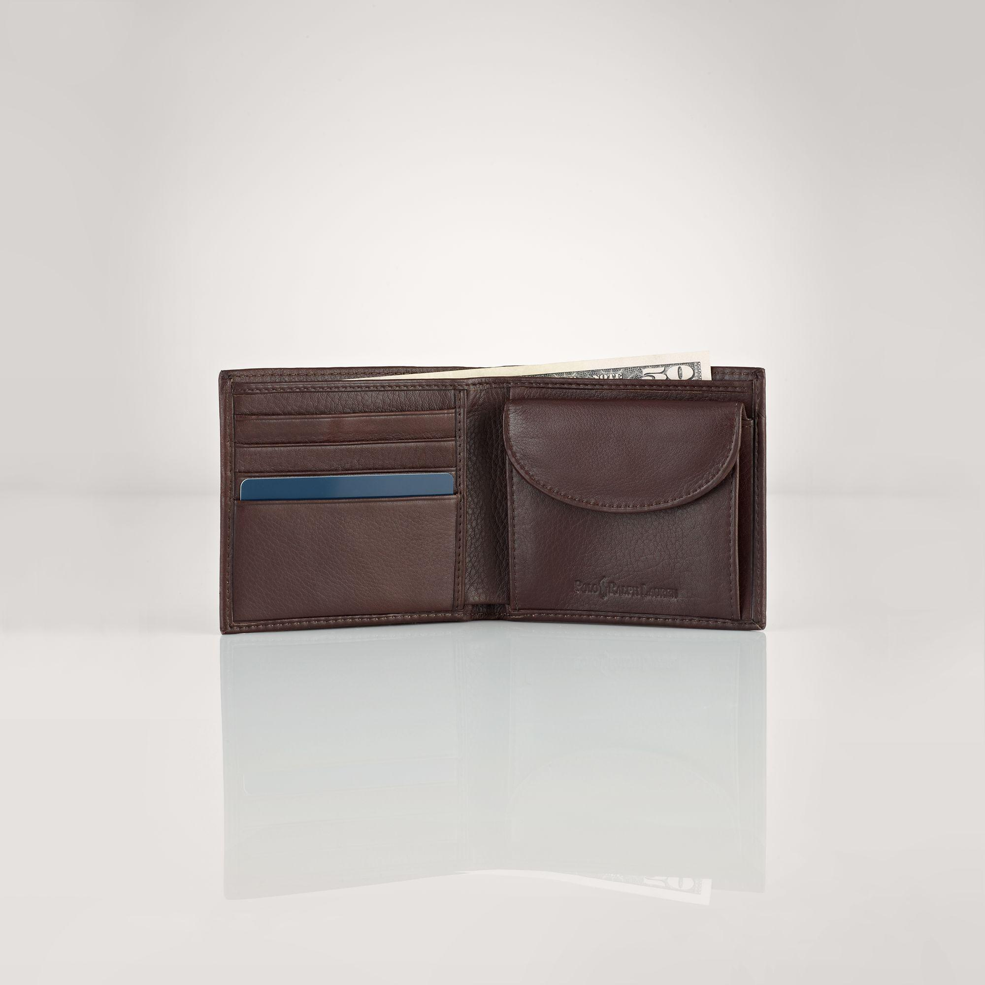 Lyst Coin Leather Lauren Wallet Brown Men For Polo In Pocket Ralph hQCtsdr