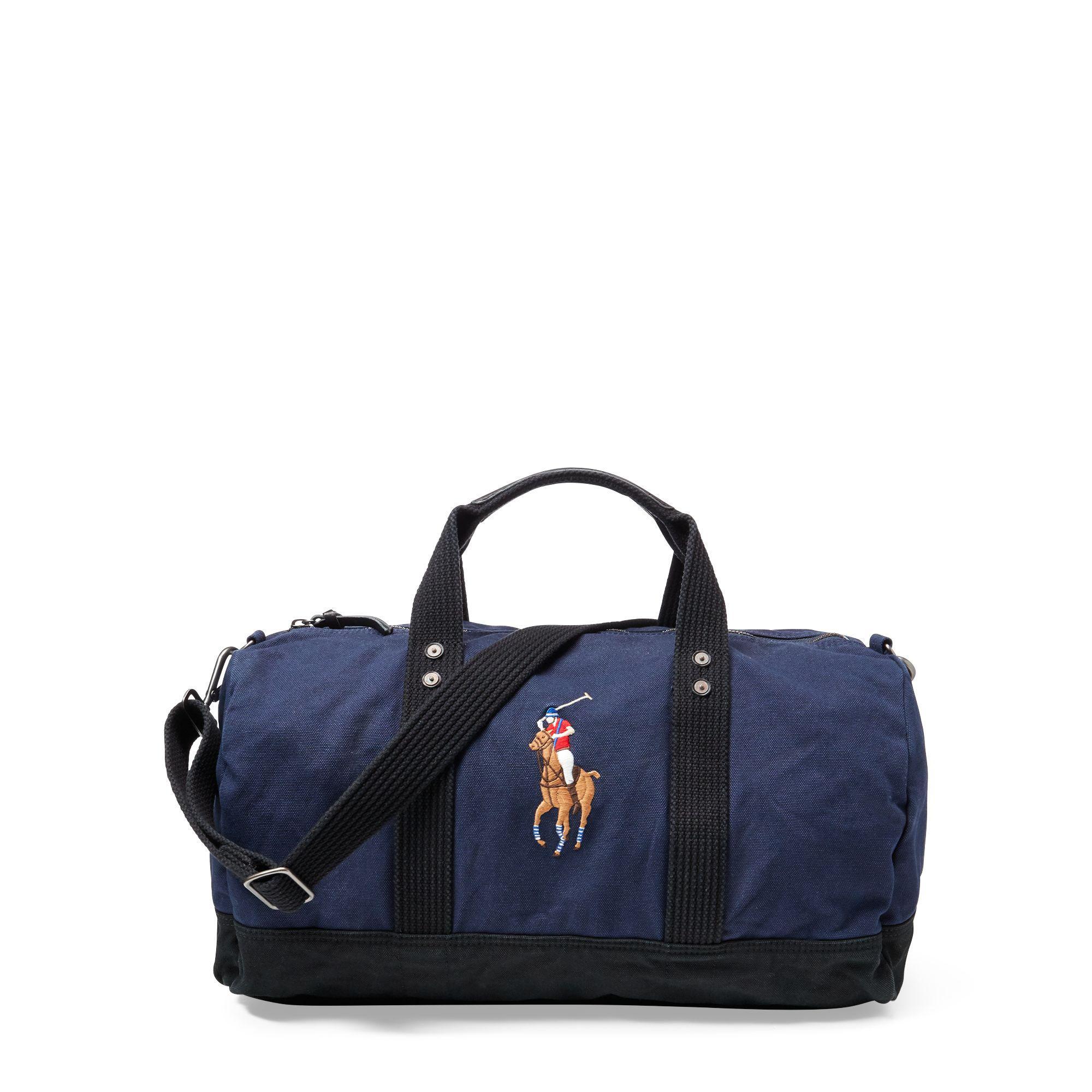 Lyst - Polo Ralph Lauren Canvas Big Pony Duffel Bag in Blue for Men 1695793e6d