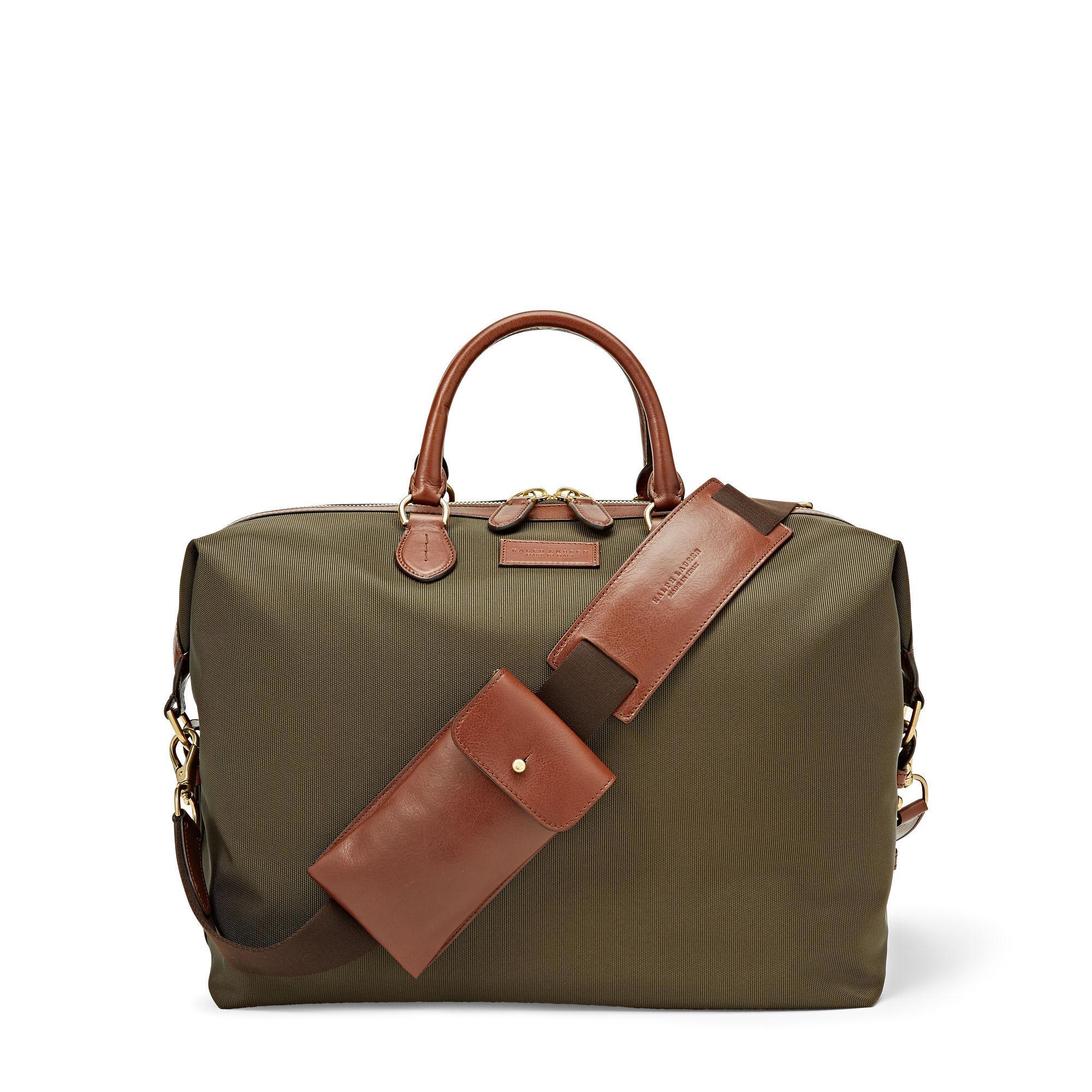 58b7edd04b Ralph Lauren Nylon Overnight Bag in Green for Men - Lyst