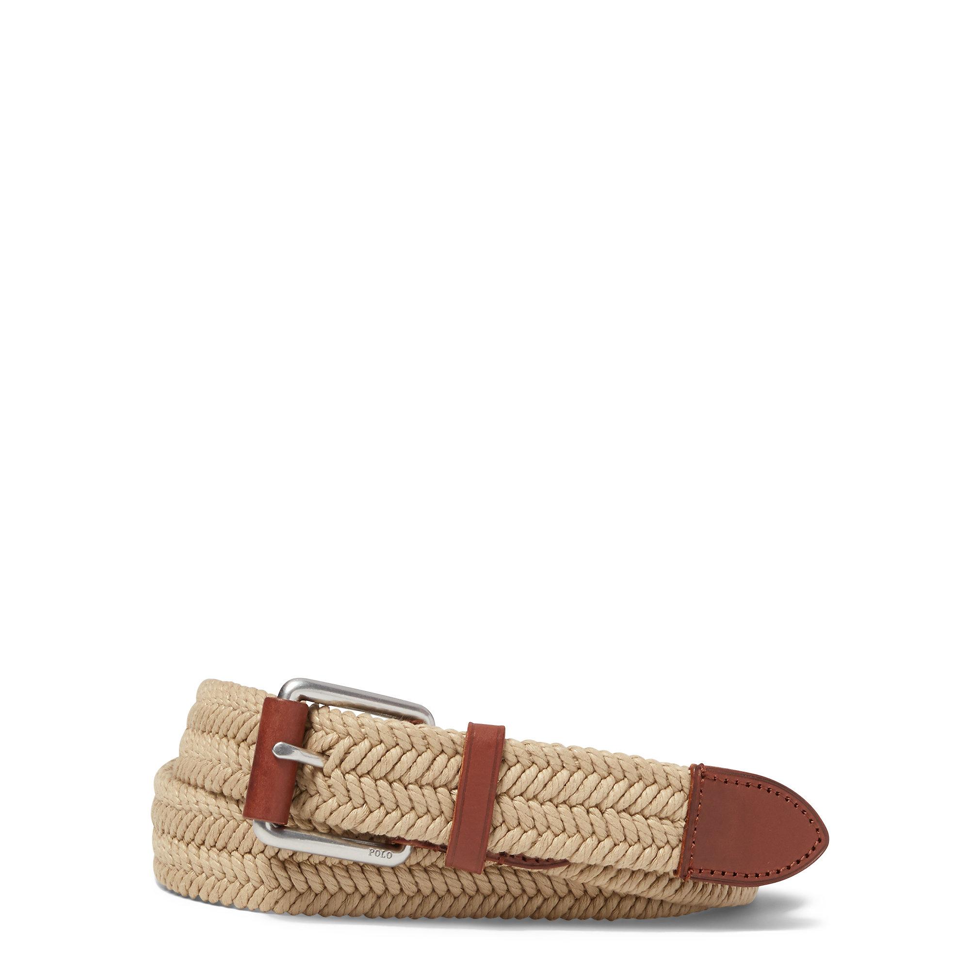 5b26464e7c Polo Ralph Lauren Natural Braided Waxed Cotton Belt for men