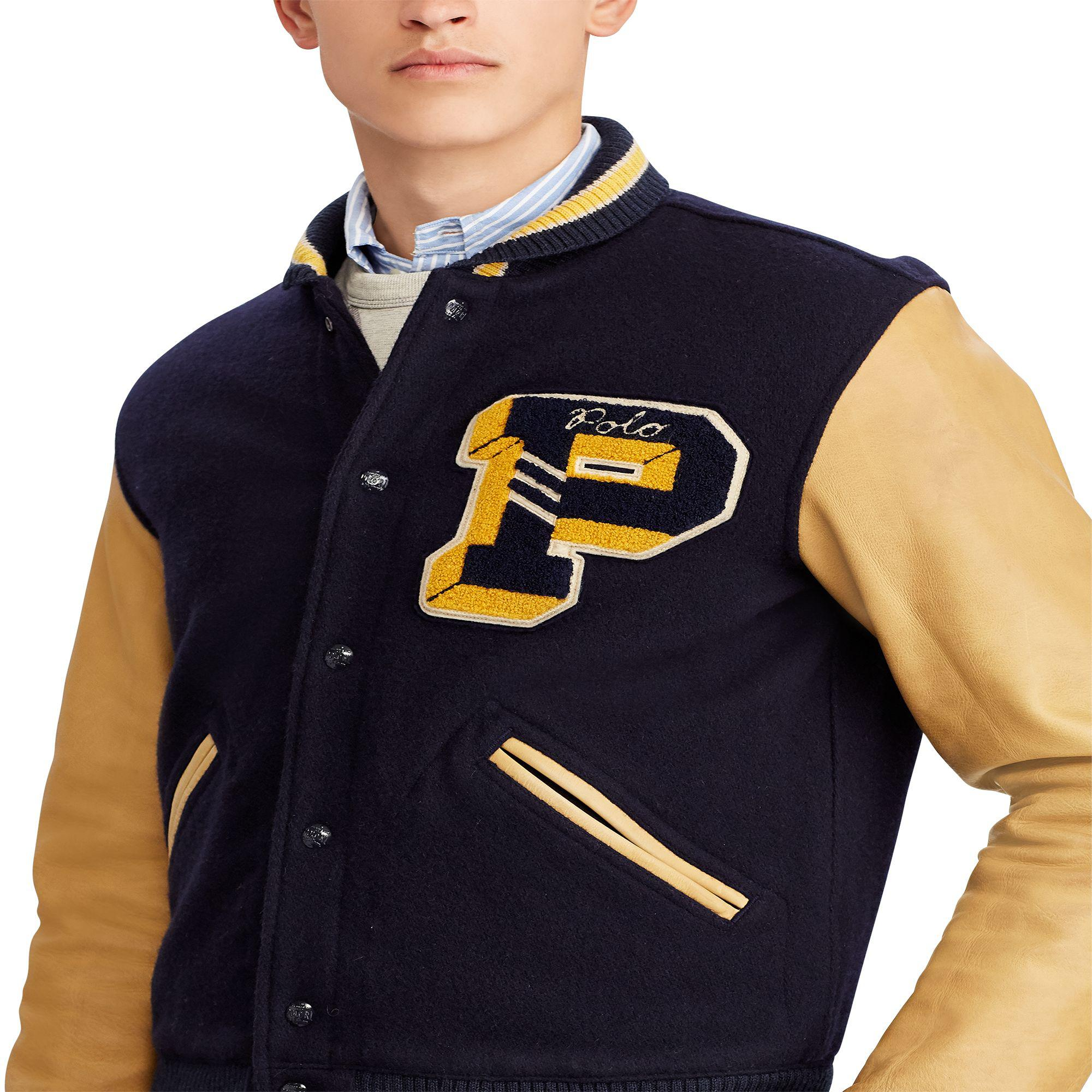 Polo Ralph Lauren Wool Varsity Jacket in Navy (Blue) for