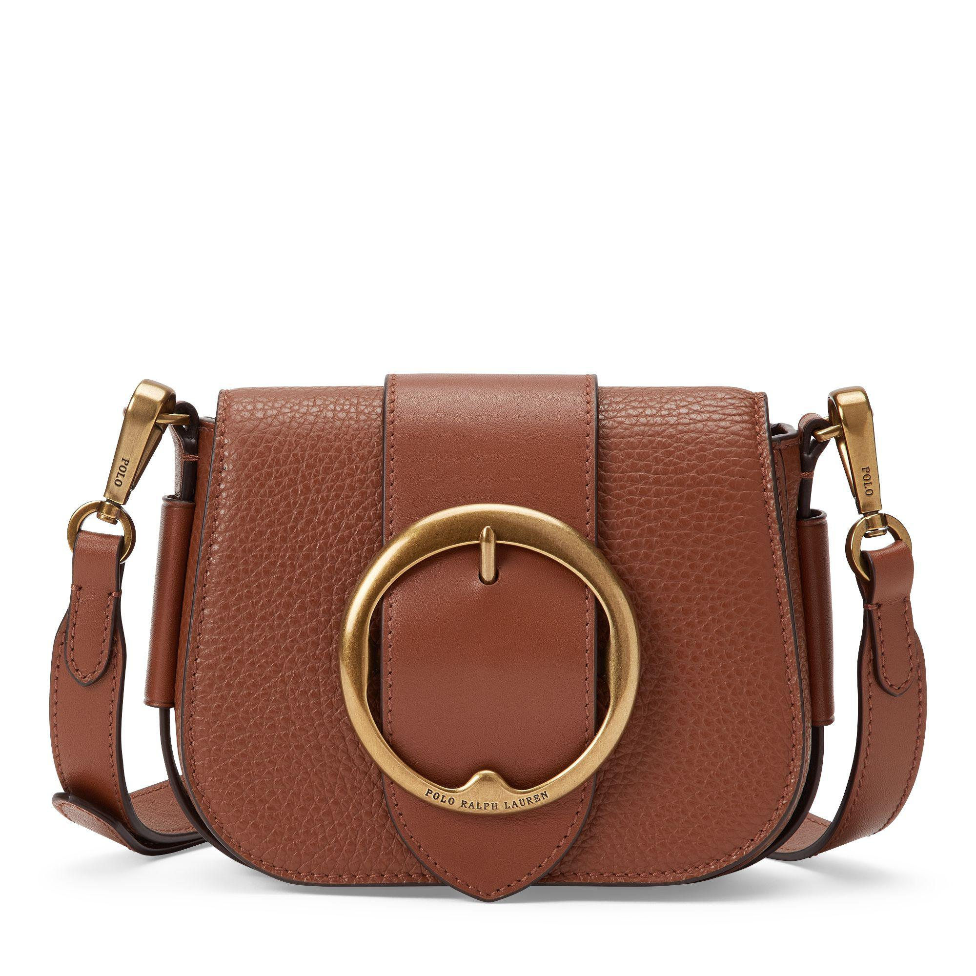 d91bb31eeb4a Polo Ralph Lauren Leather Mini Lennox Bag in Brown - Lyst