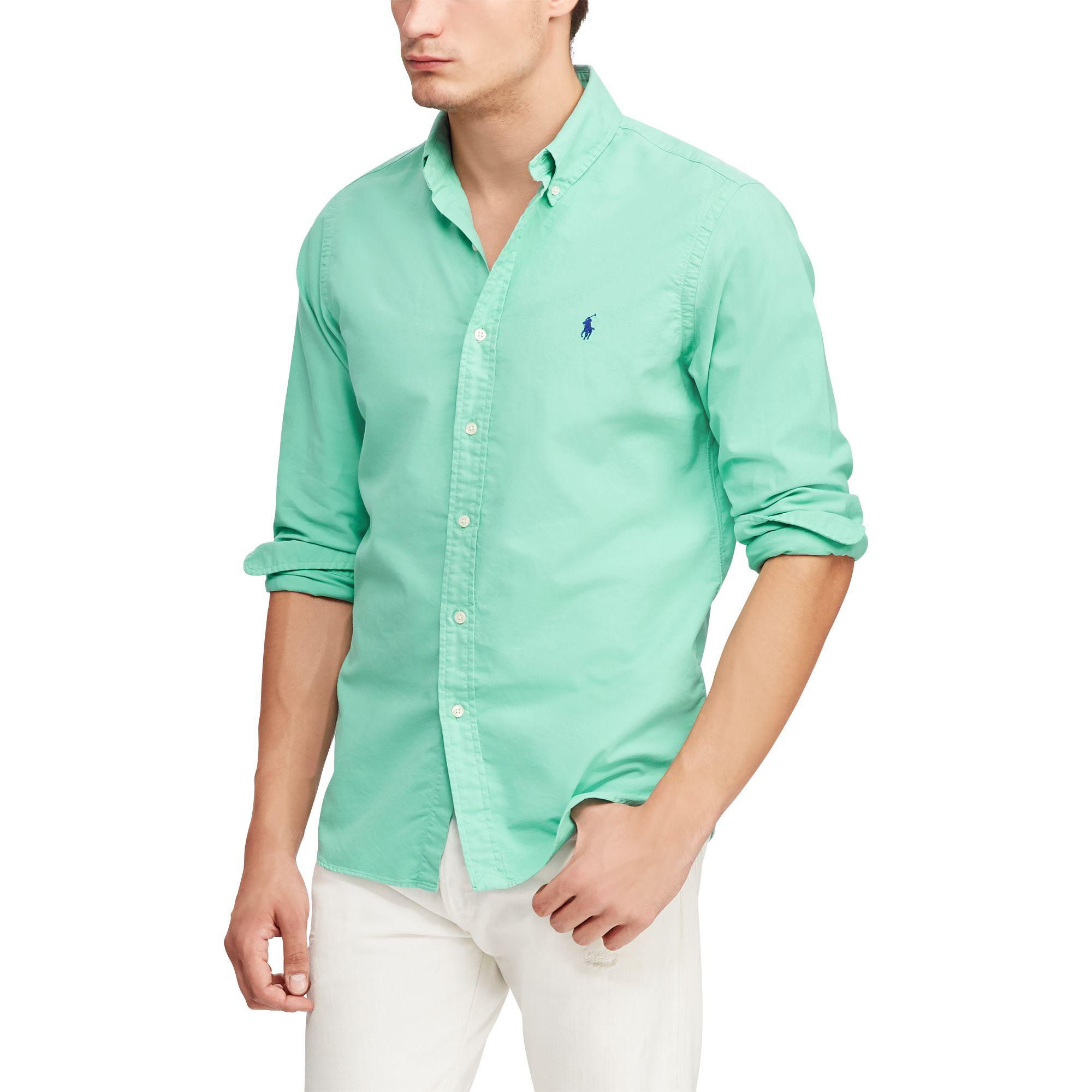 Polo Dyed Green For Men Ralph Shirt Garment Oxford Lauren Fl135uTJKc