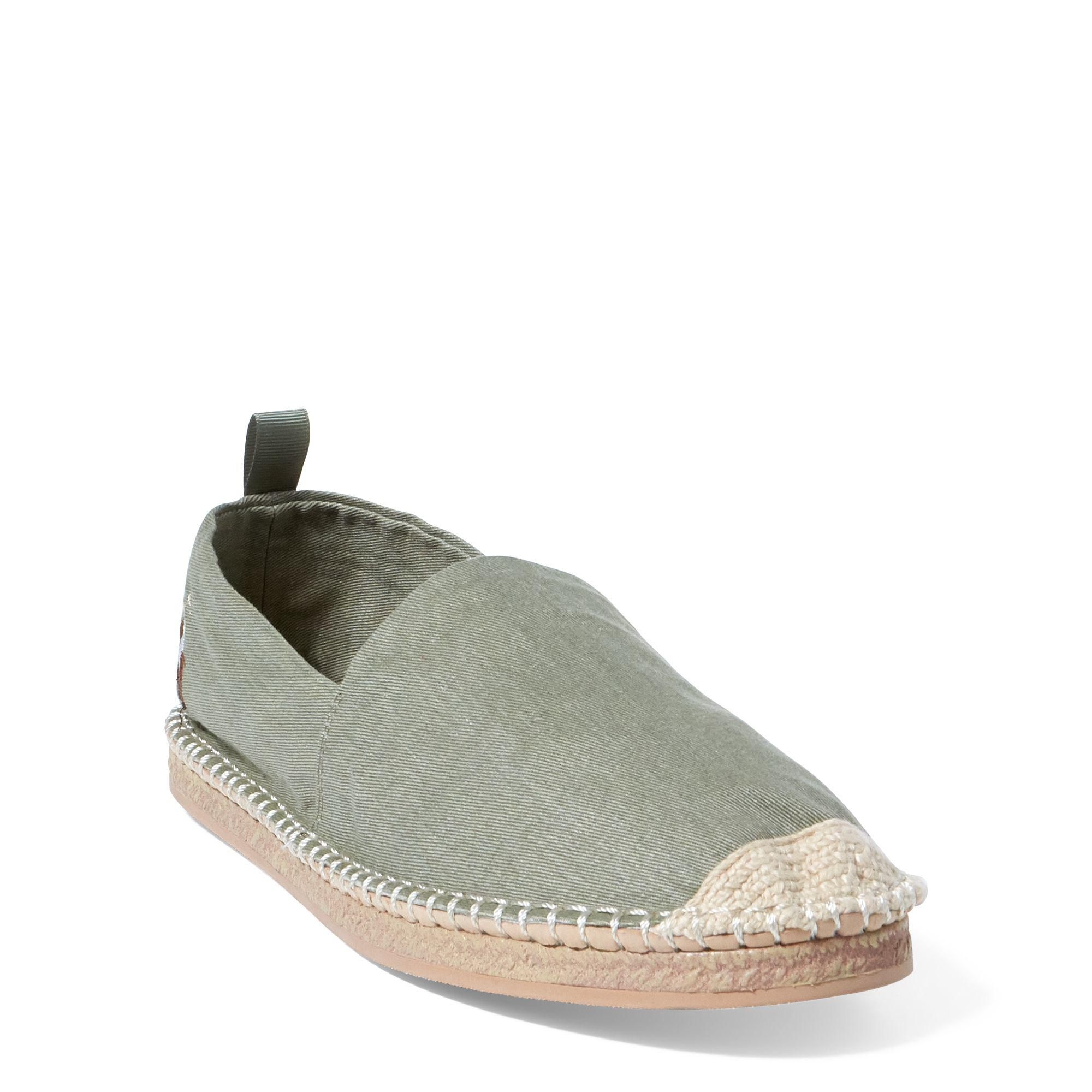 73393d404c6 Lyst - Polo Ralph Lauren Barron Washed Twill Espadrille in Green