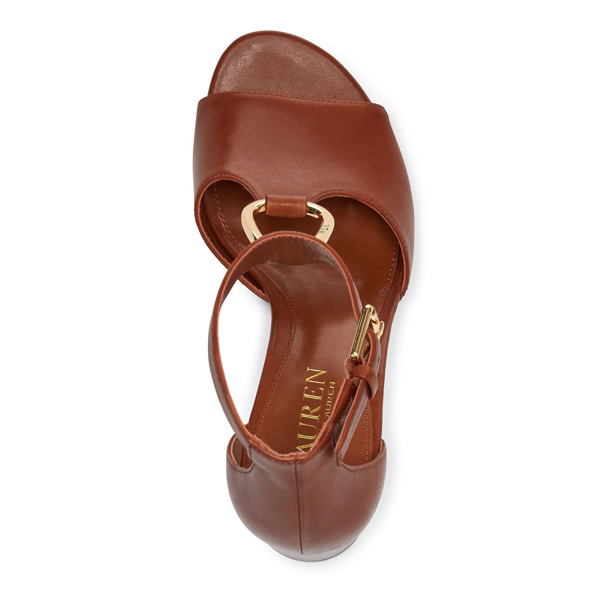Ralph Lauren Elesia Leather Sandal in