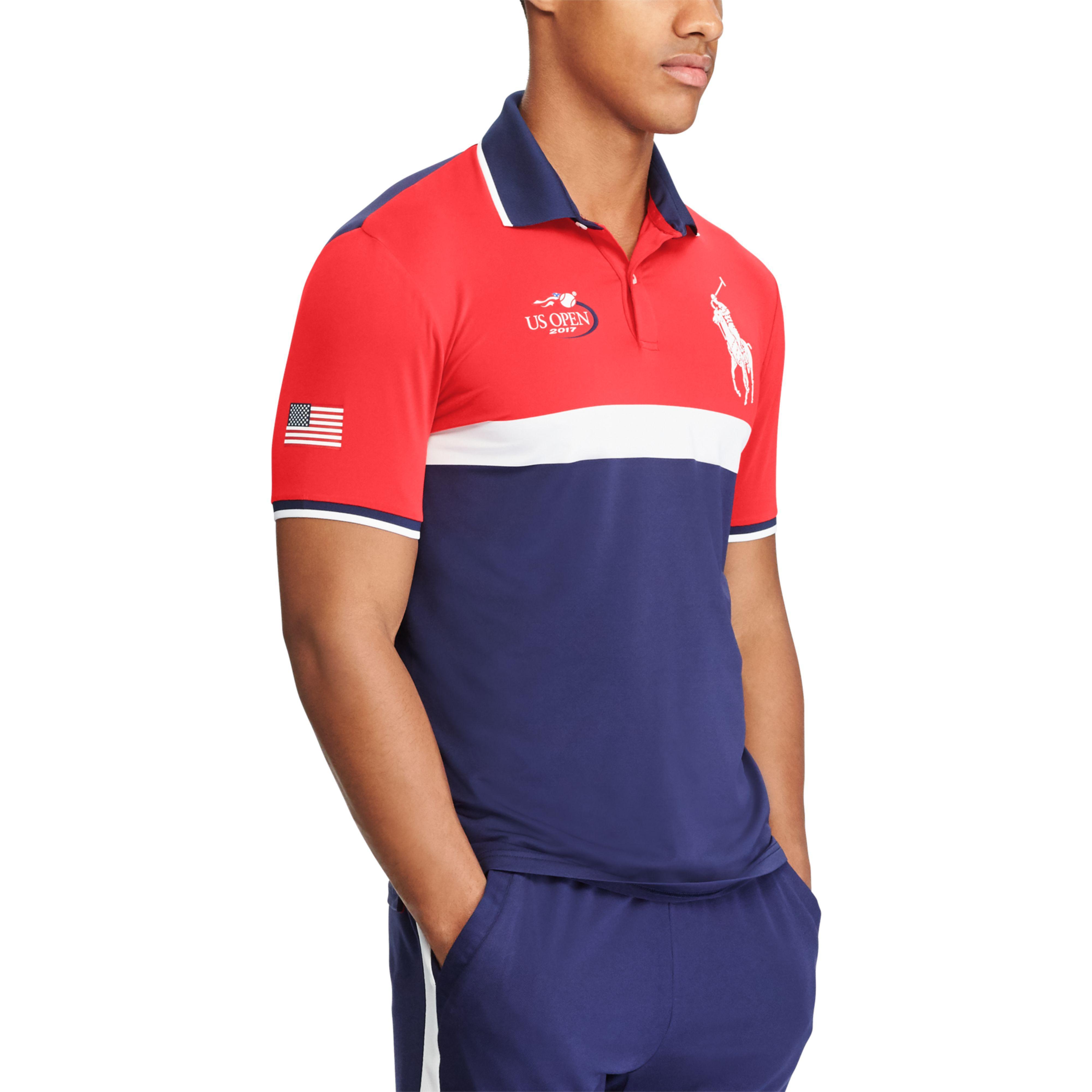 Blue Shirt Open Men's Ball Polo Us Boy QdsxtrhC