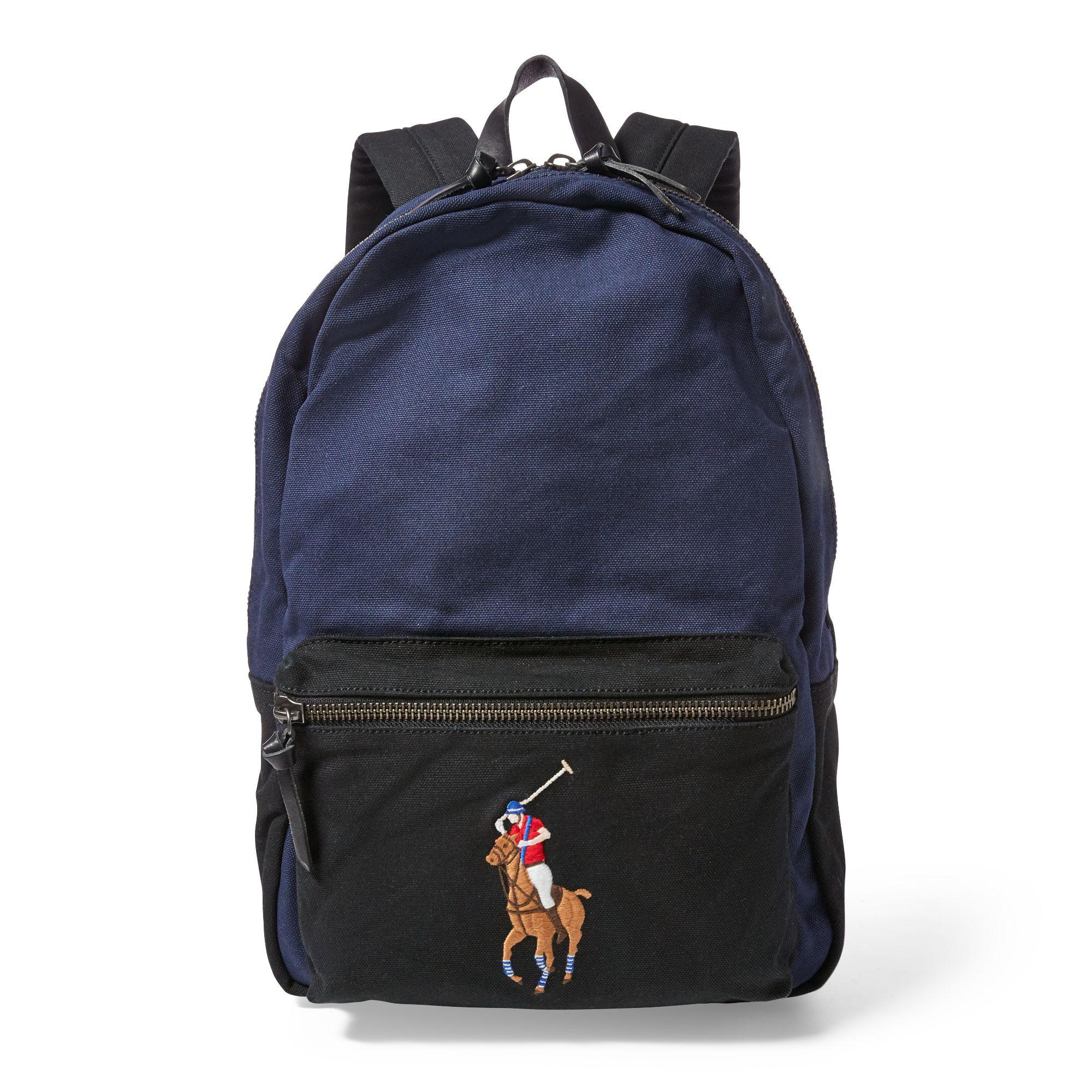 1385c0f76dba Polo ralph lauren canvas big pony backpack for men lyst jpg 2000x2000 Polo  canvas backpack