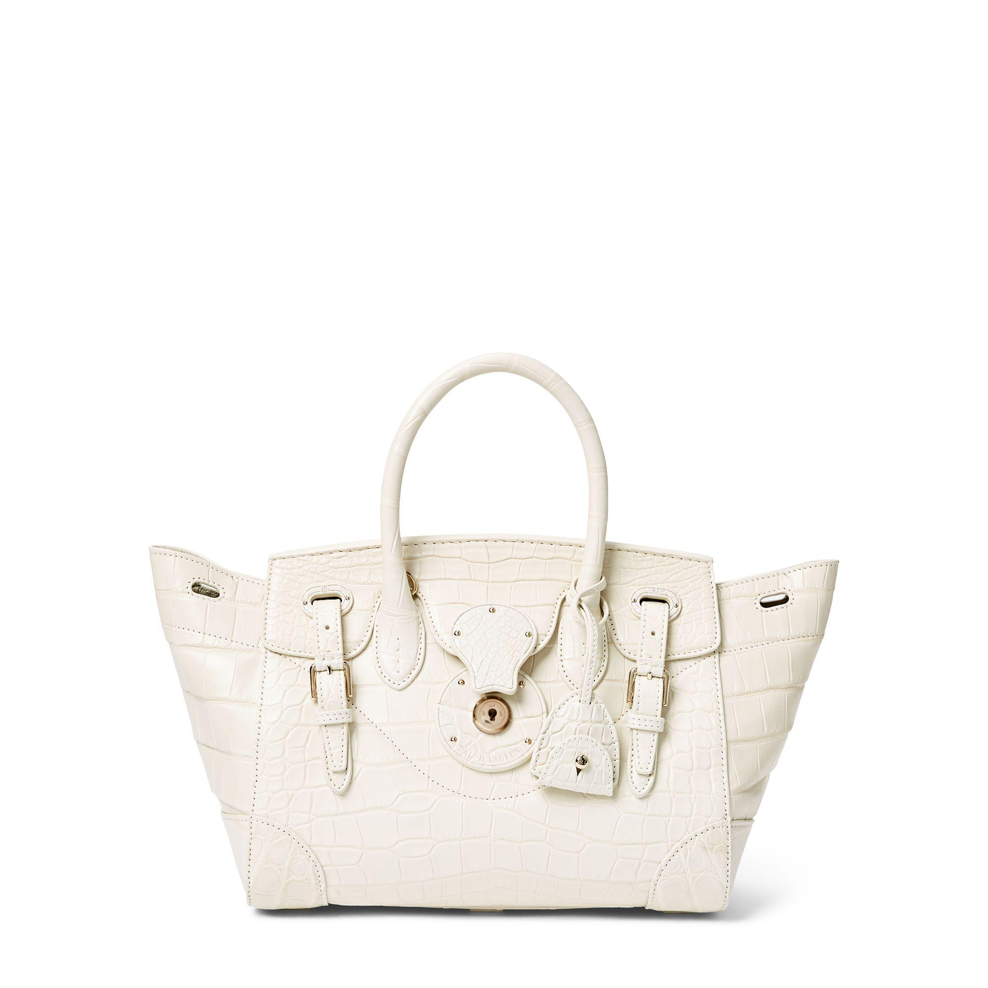 9b85b9854493 Lyst - Ralph Lauren Matte Alligator Soft Ricky 27 in Natural
