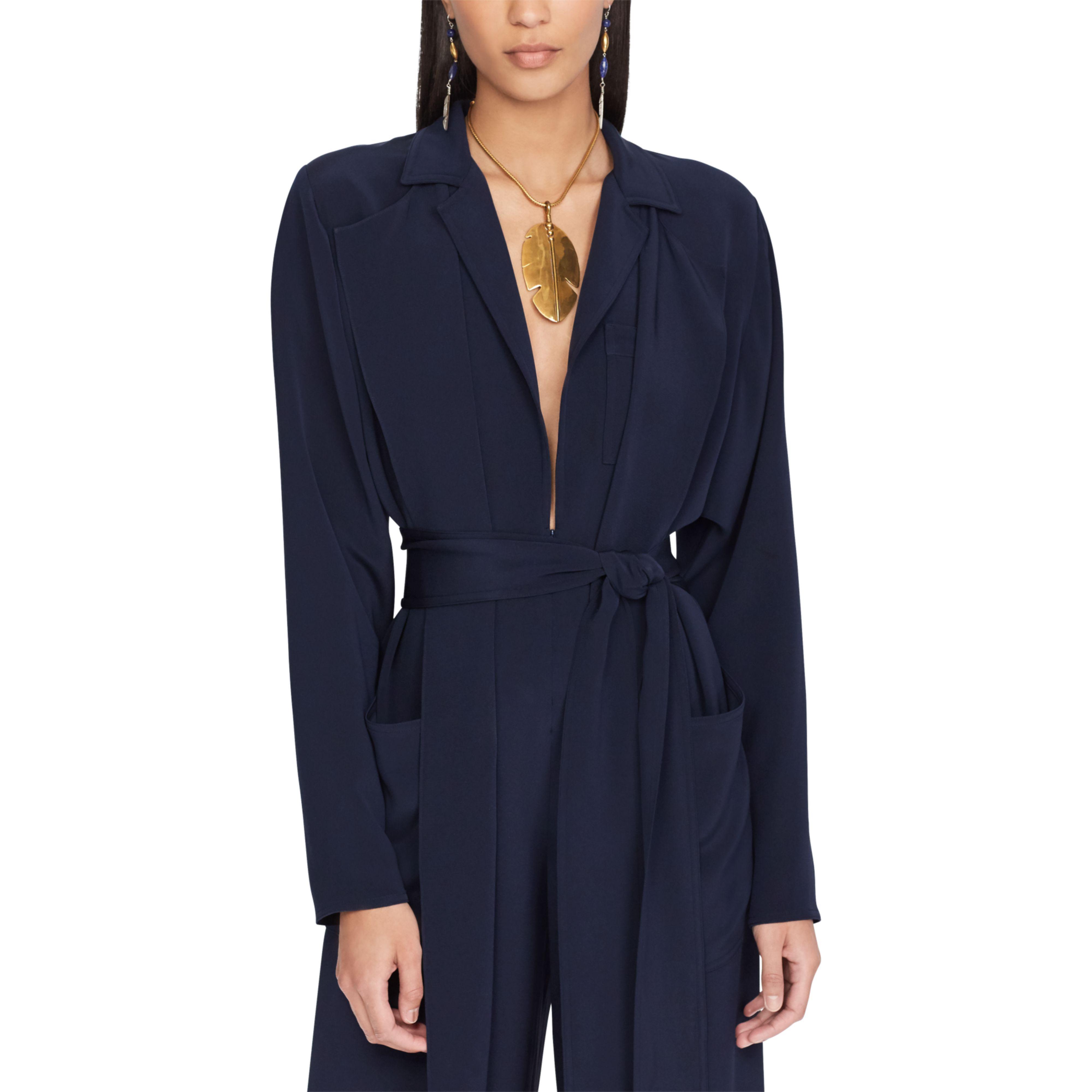 3cb8d10dc04 Lyst - Ralph Lauren O reilly Silk Jumpsuit in Blue