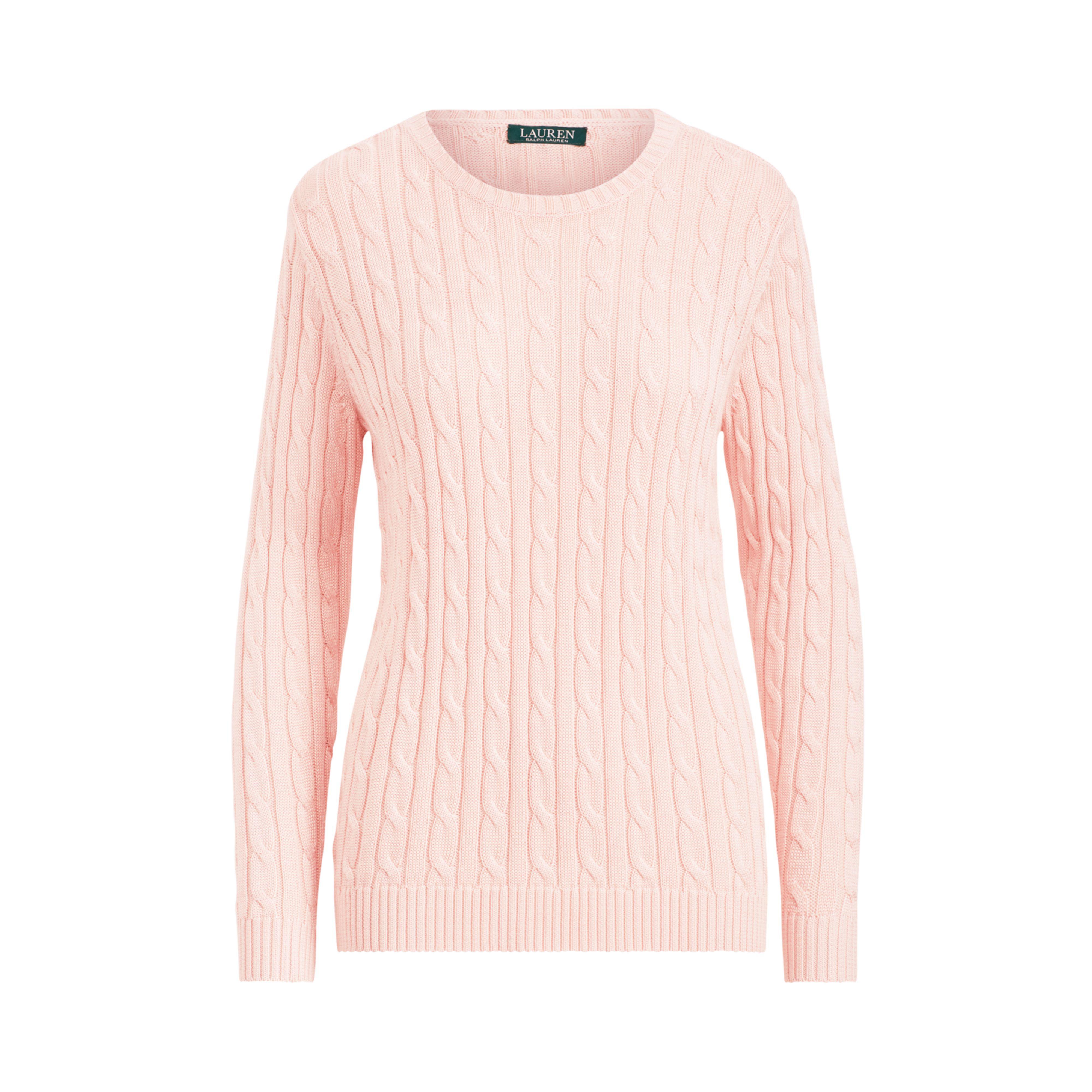 d578ef1450 Ralph Lauren Pink Cable Cotton-blend Sweater