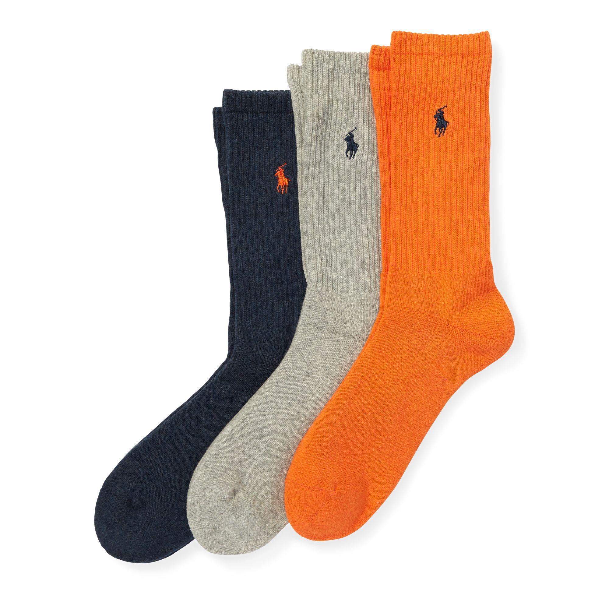 1955e2f4e98 Lyst - Polo Ralph Lauren Crew Sock 3-pack for Men