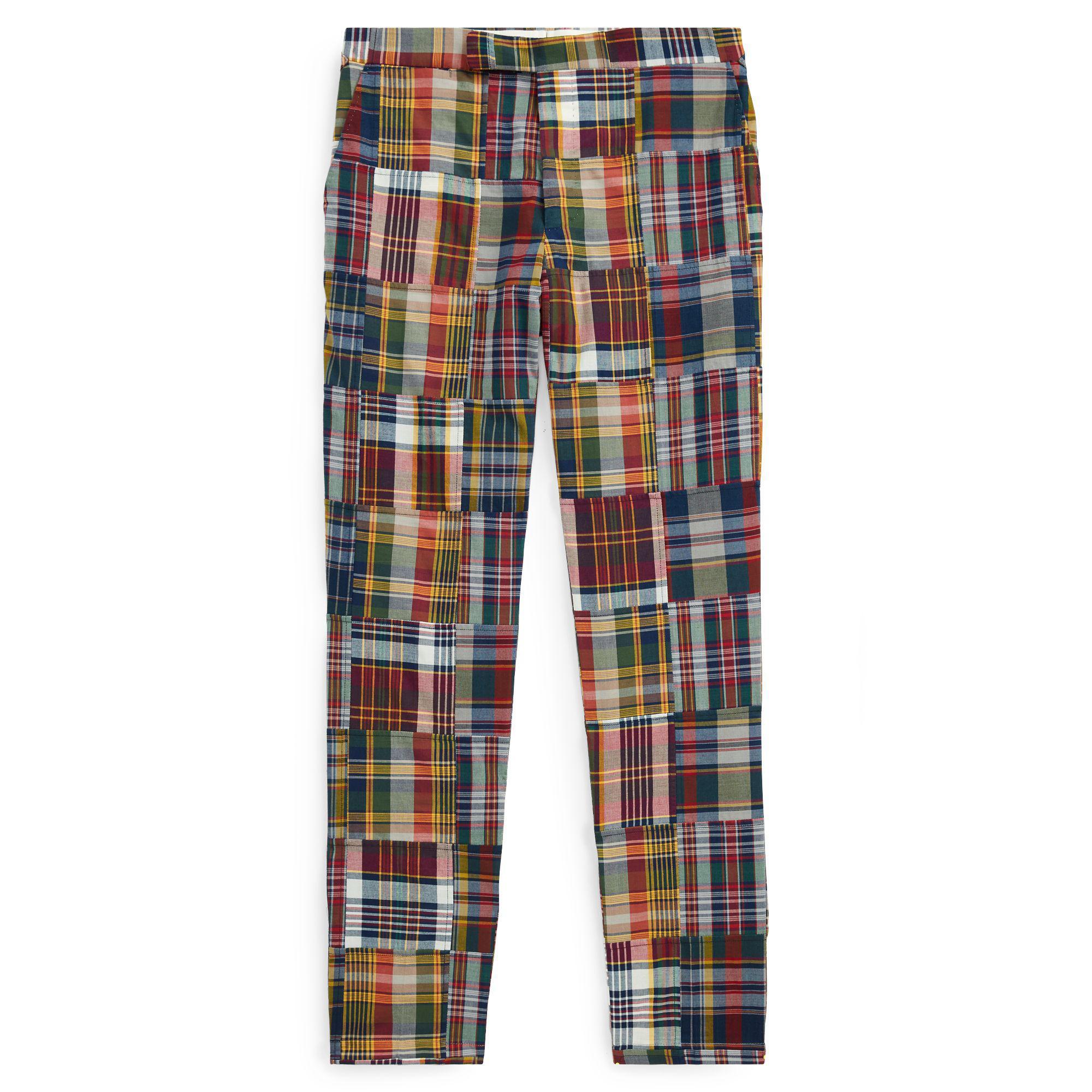5c615fef9fec Polo Ralph Lauren Polo Patchwork Madras Trouser for Men - Lyst
