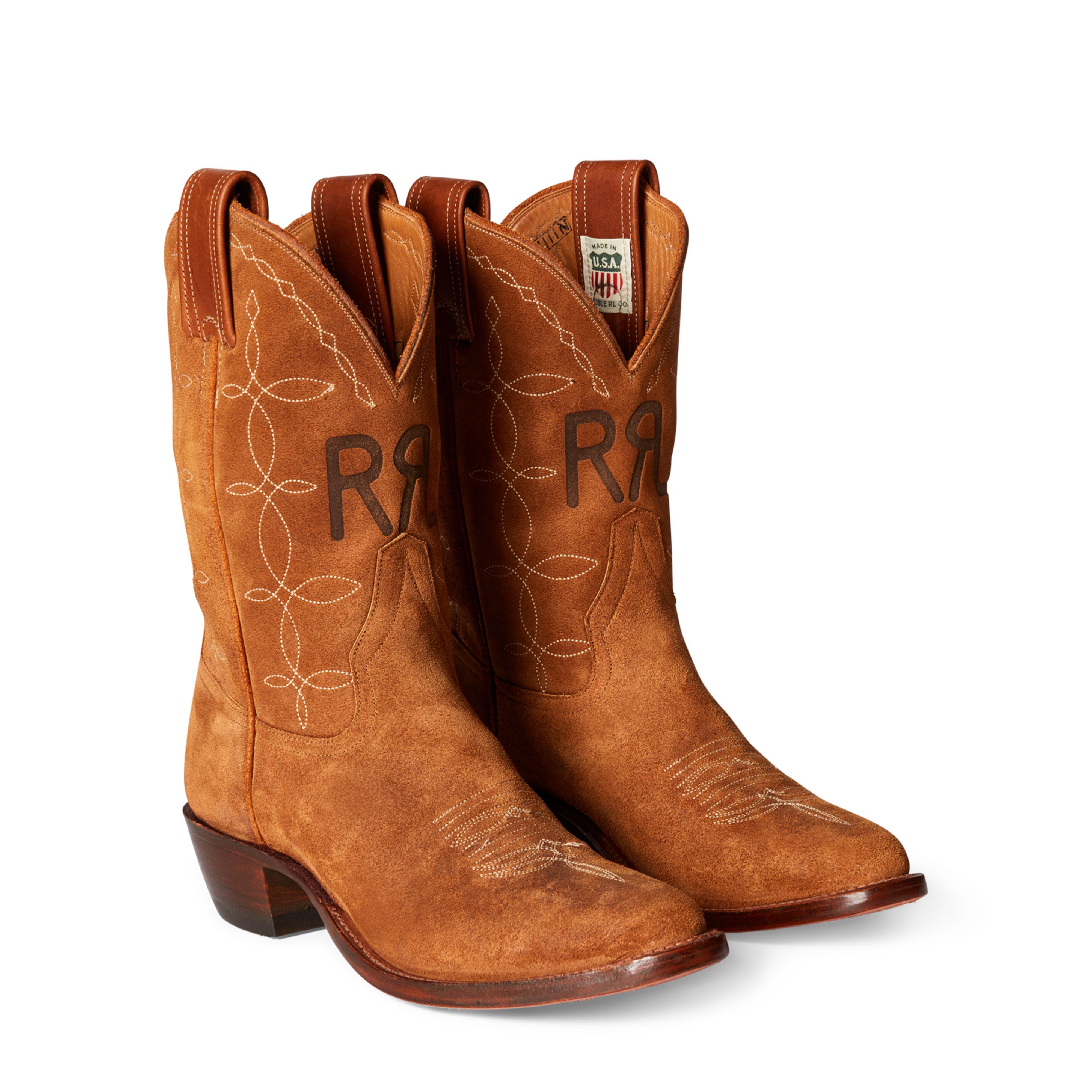 vintage ralph lauren cowboy boots - 50